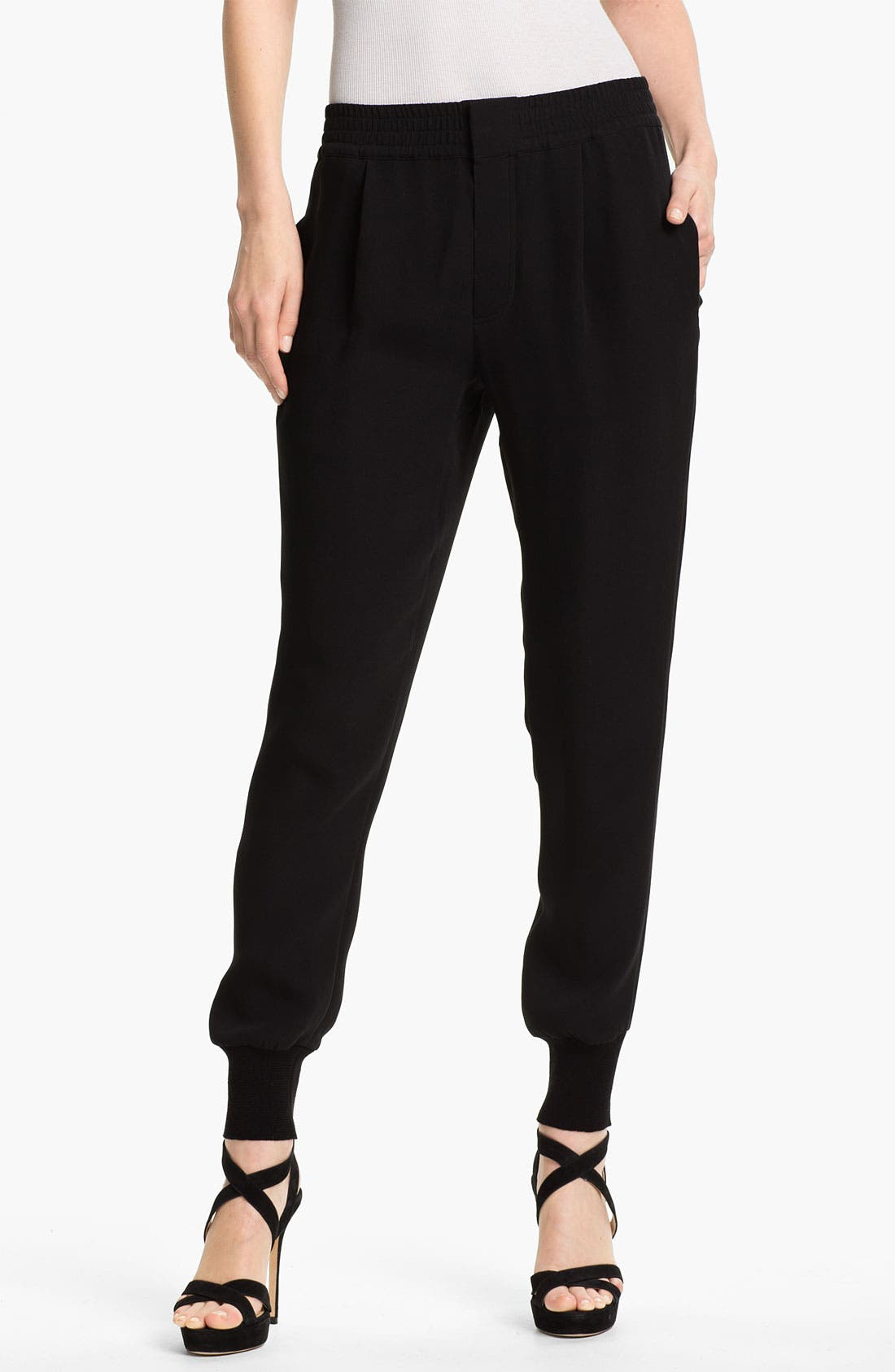 Main Image - Vince Relaxed Silk Pants