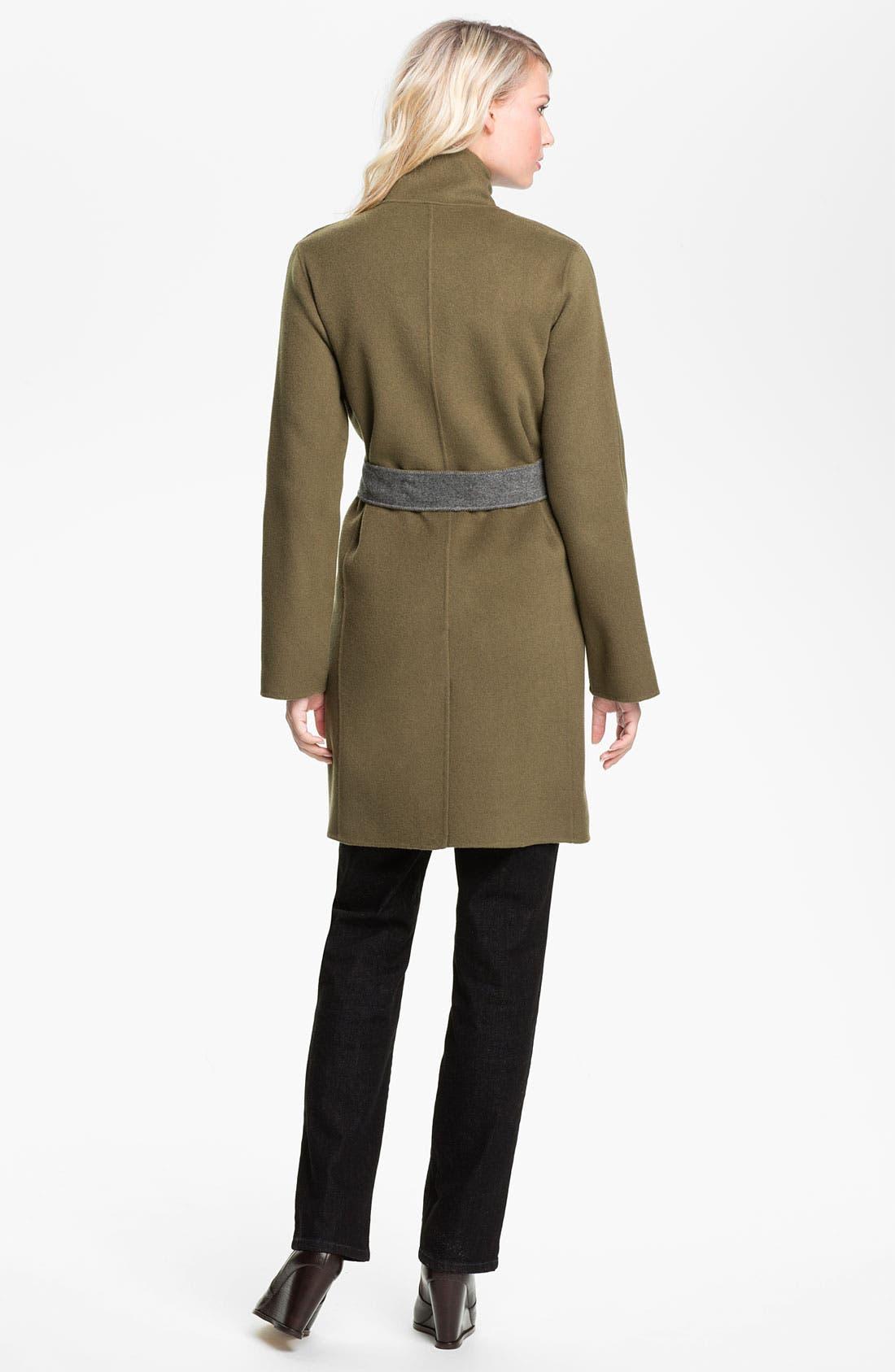 Alternate Image 5  - Eileen Fisher High Collar Belted Coat