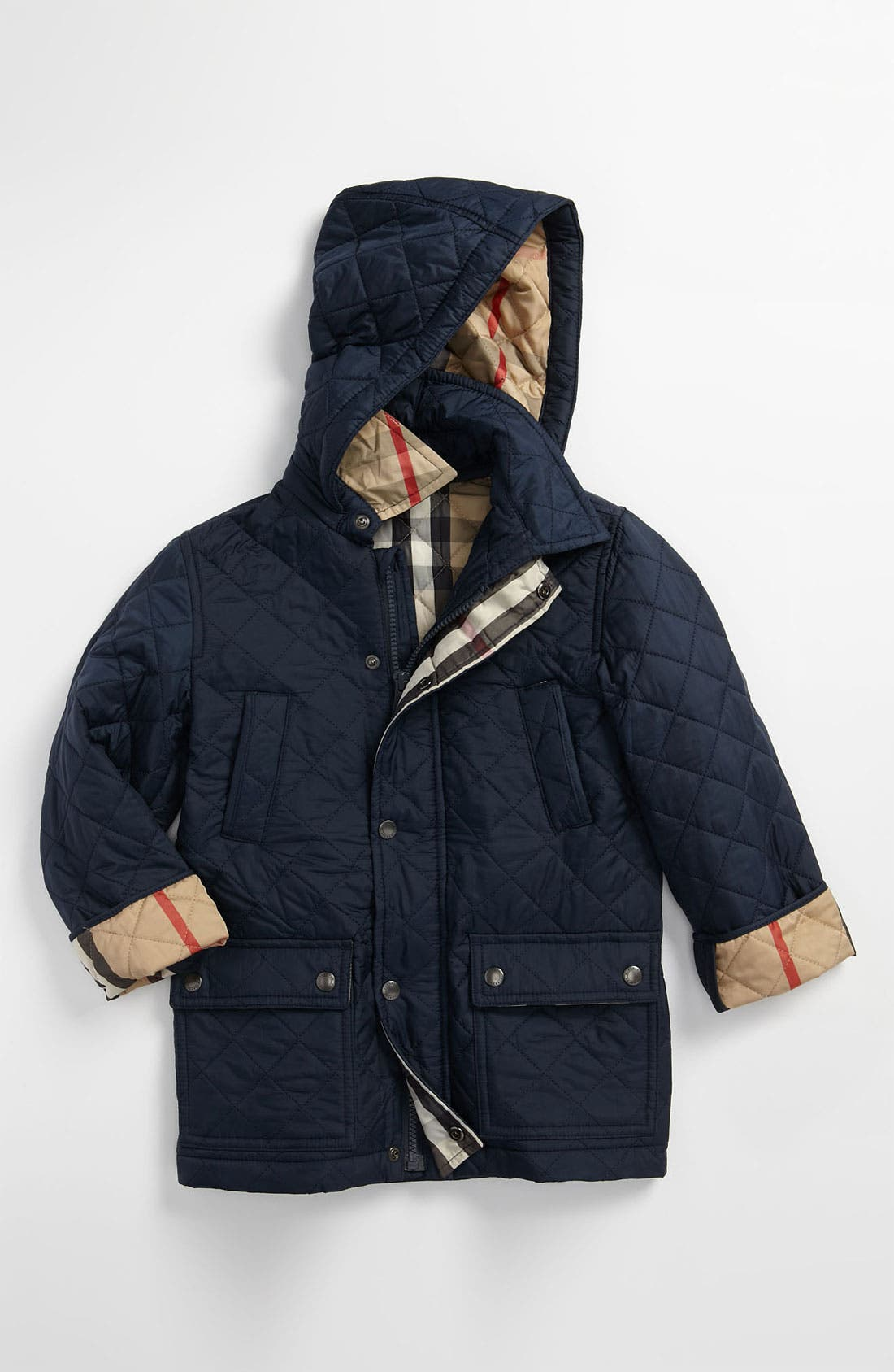 Main Image - Burberry Quilted Jacket (Big Boys)