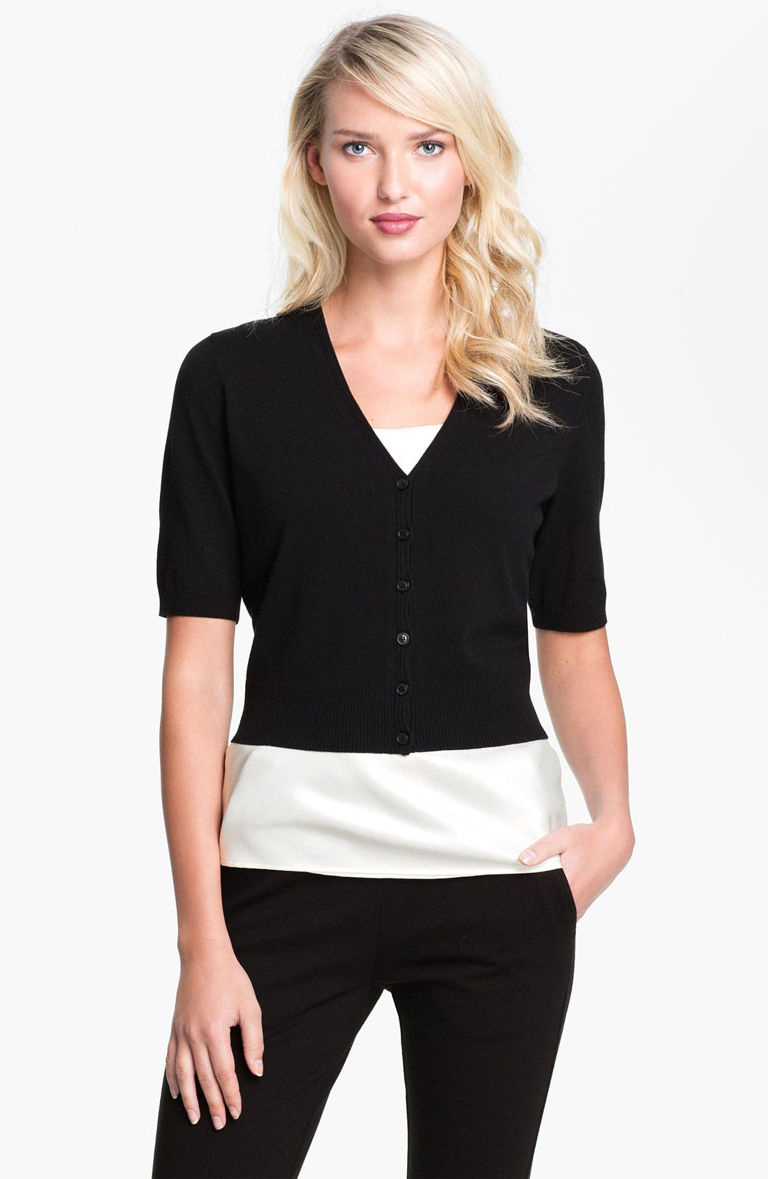 Alternate Image 1 Selected - Lafayette 148 New York Crop Cardigan