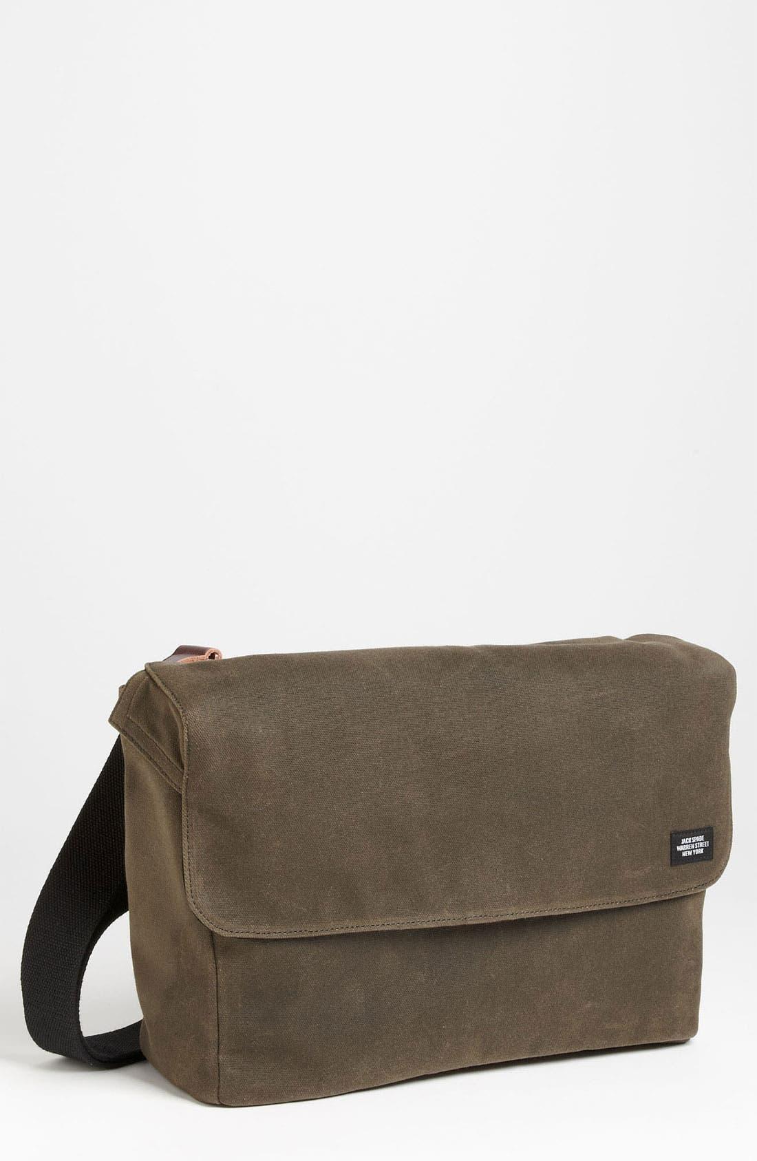 Alternate Image 1 Selected - Jack Spade 'Cap' Canvas Messenger Bag