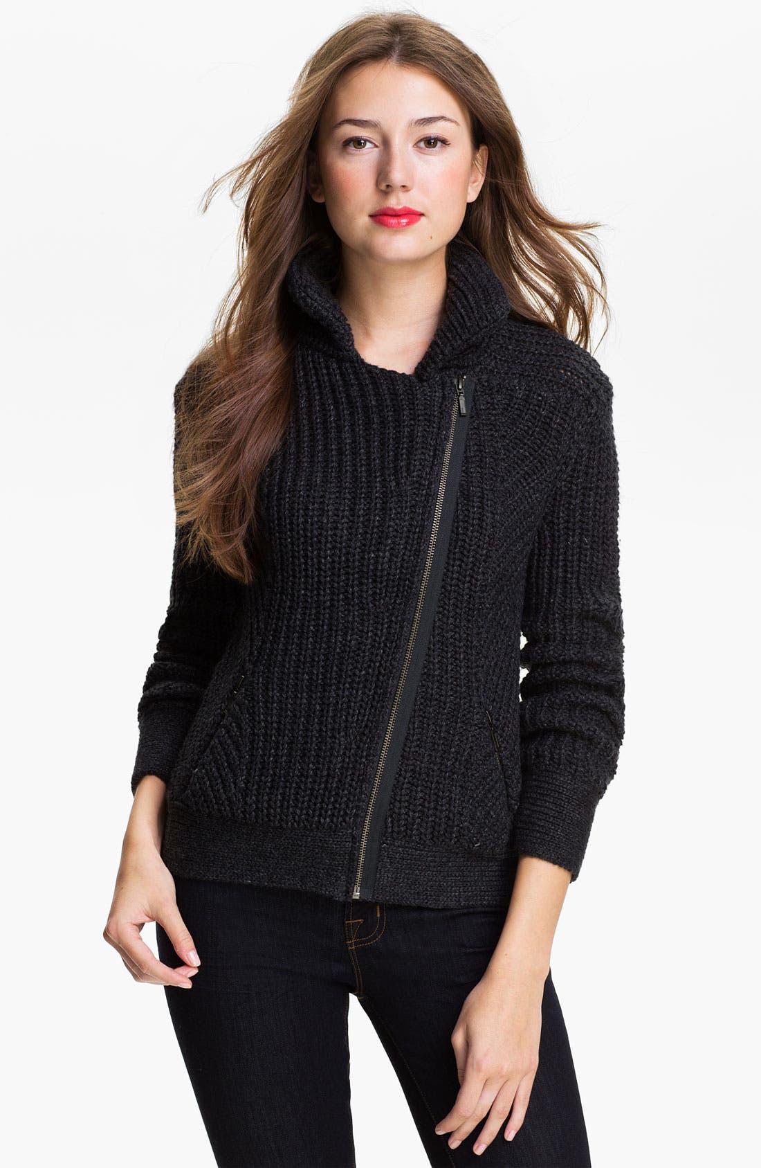Main Image - Caslon® Moto Sweater Jacket