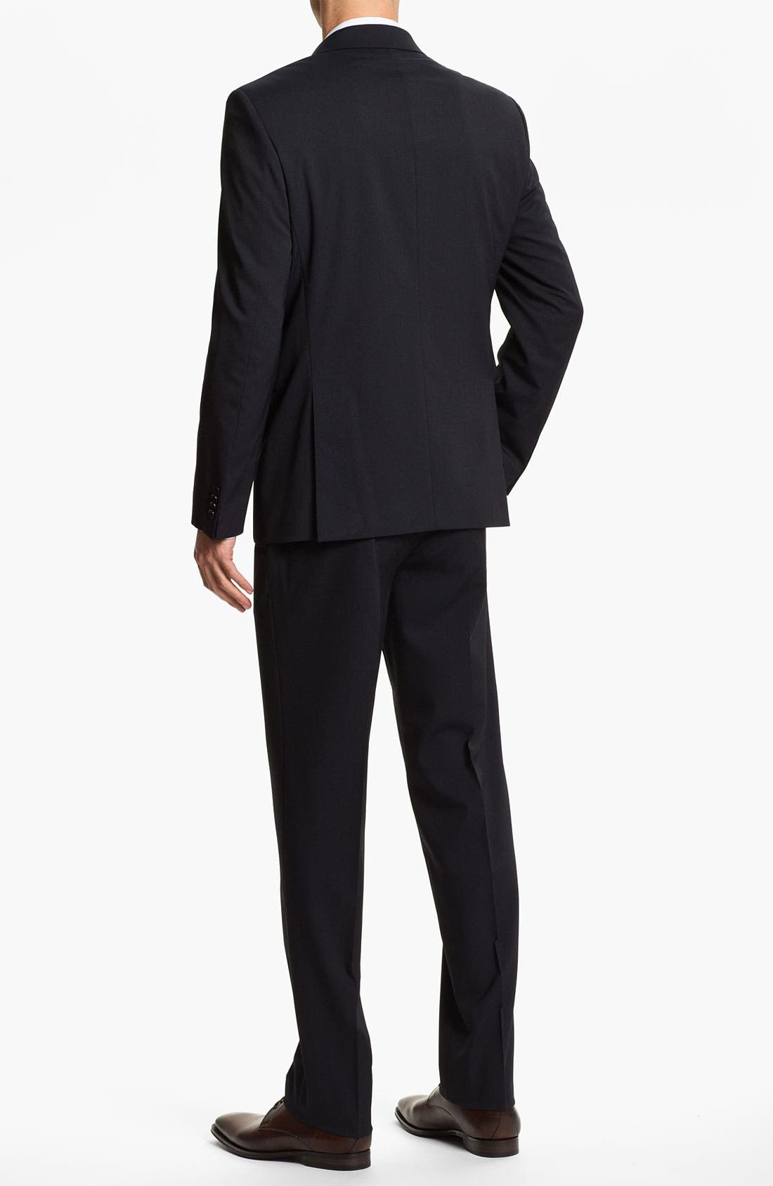 Alternate Image 3  - Sand Trim Fit Wool Blend Suit
