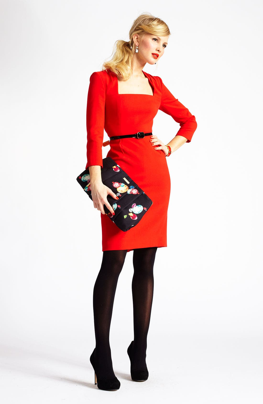 Alternate Image 4  - kate spade new york 'shiella' woven sheath dress