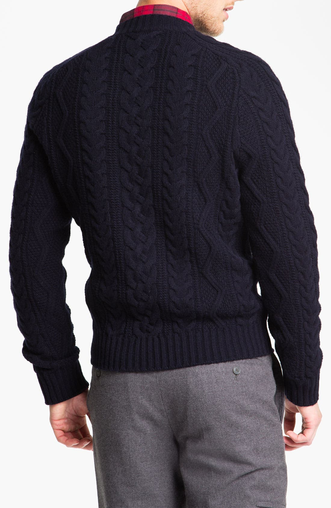 Alternate Image 2  - Brooks Brothers 'Fisherman' Crewneck Sweater