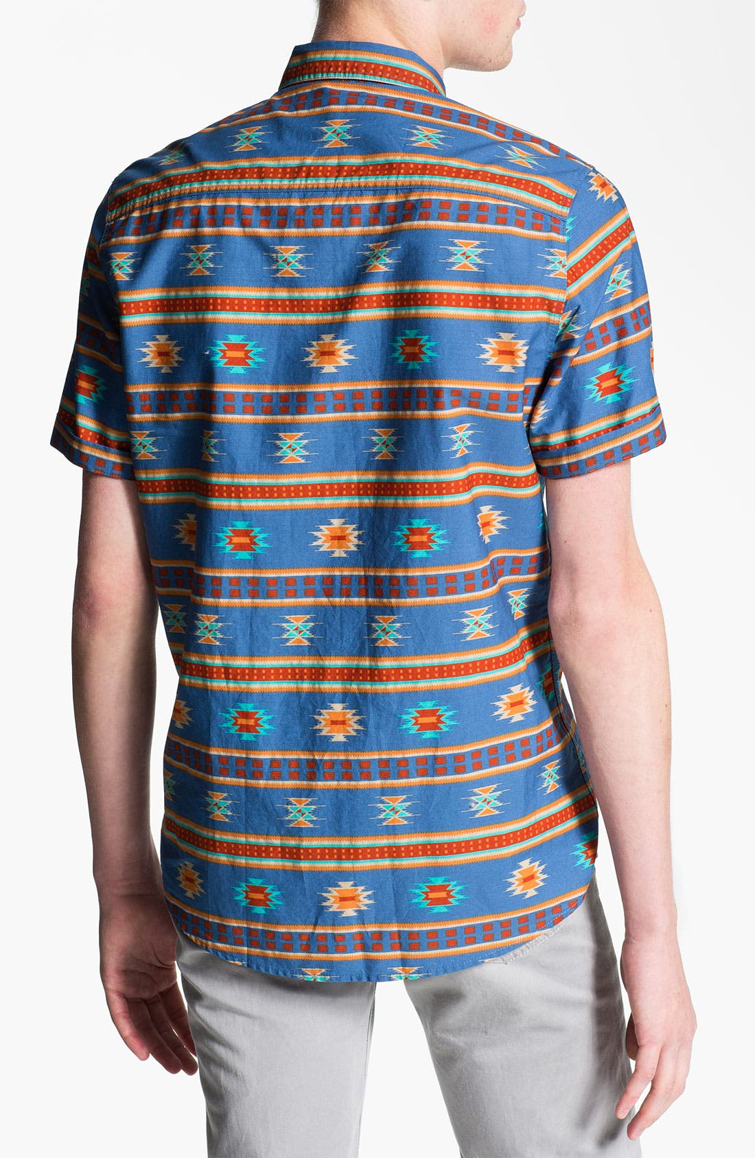 Alternate Image 2  - Topman Short Sleeve Print Shirt