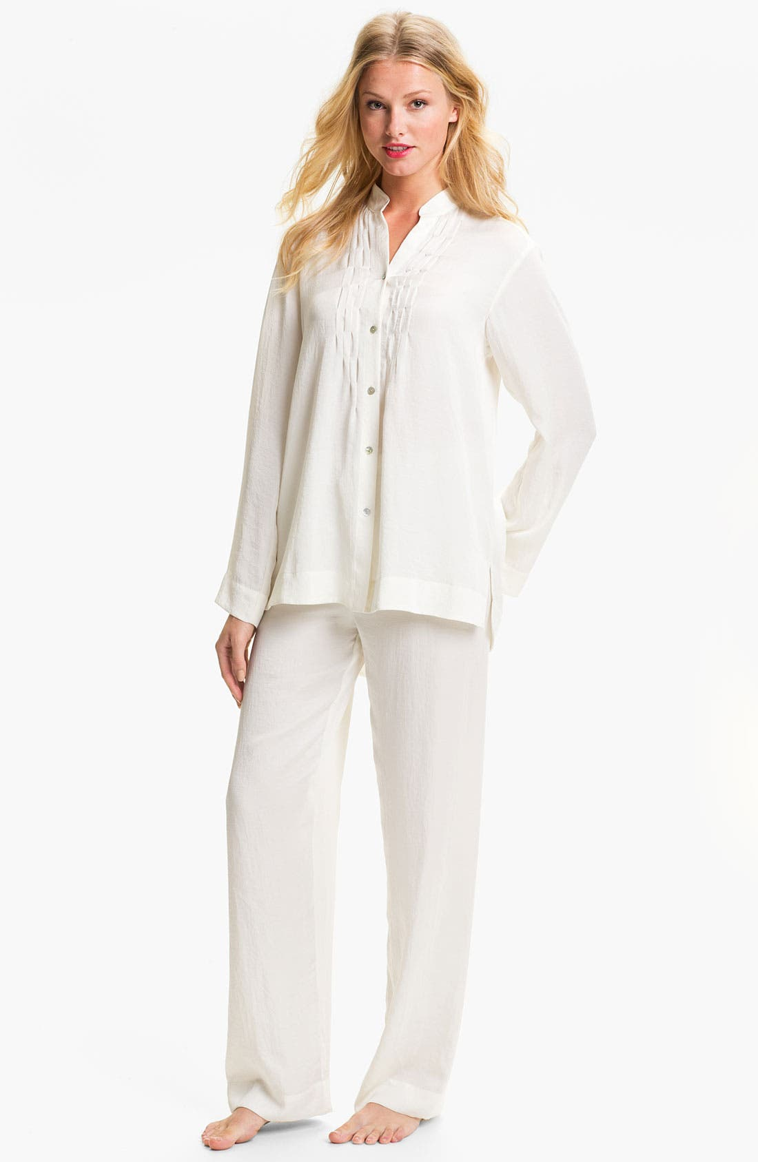 Alternate Image 1 Selected - Donna Karan Laundered Satin Pajamas