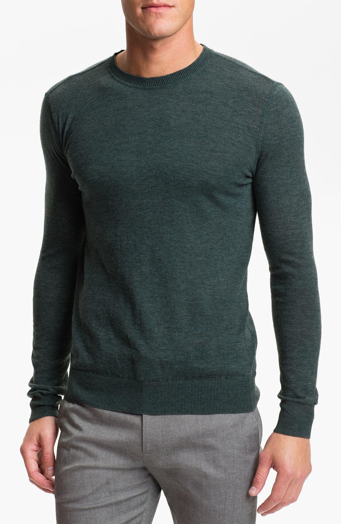Main Image - Theory 'Riland' Stonewash Crewneck Sweater