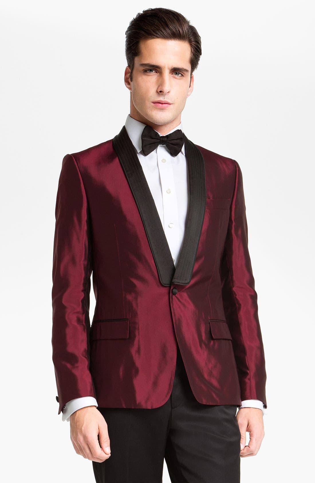 Alternate Image 1 Selected - Versace Trim Fit Dinner Jacket
