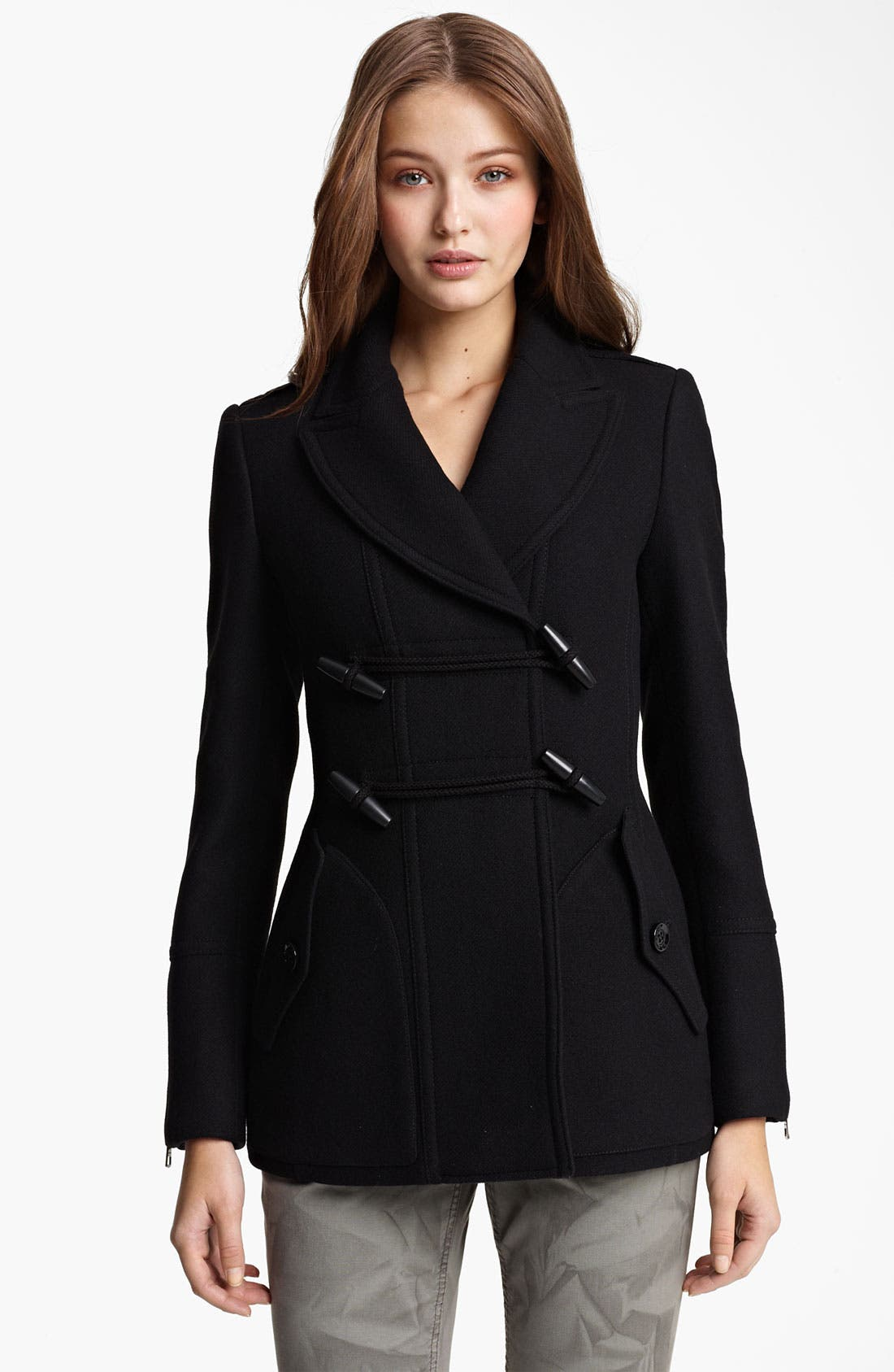 Main Image - Burberry Brit 'Blackpool' Wool Blend Peacoat