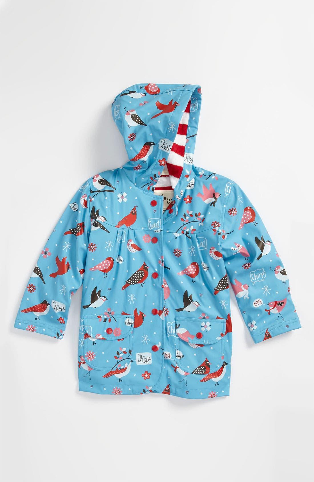 Main Image - Hatley 'Winter Birds' Rain Jacket (Infant, Toddler, Little Girls & Big Girls)