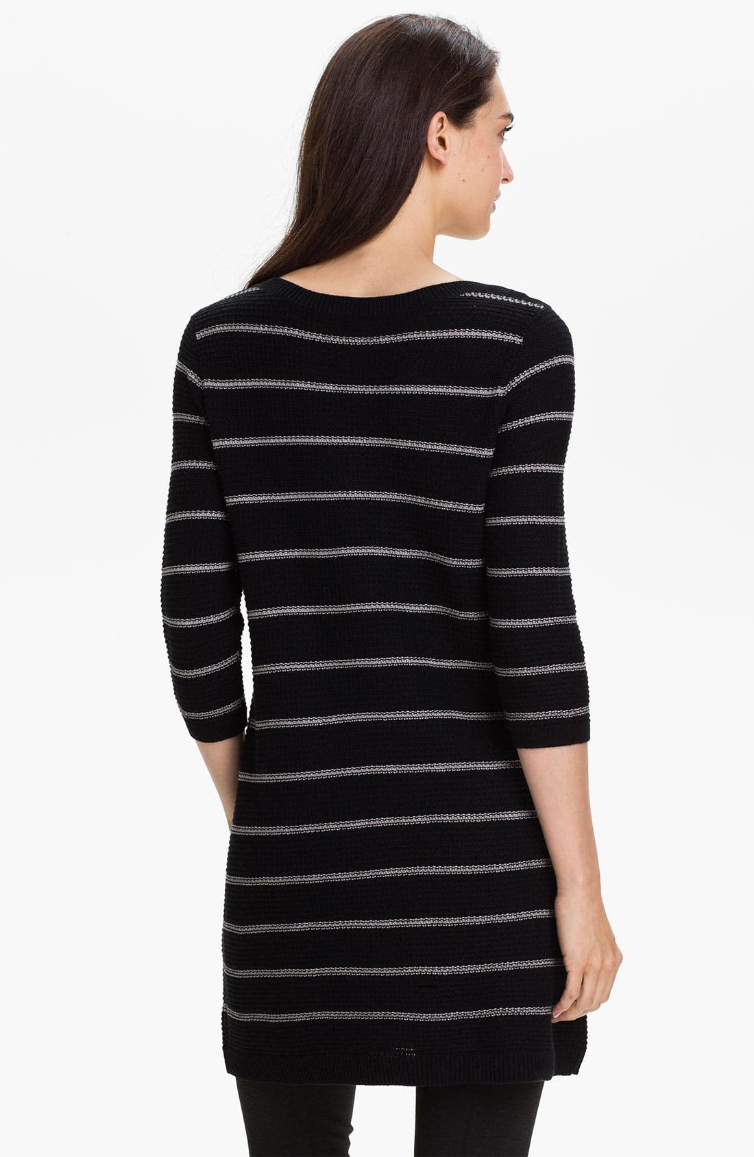 Alternate Image 2  - Caslon® Crewneck Stripe Tunic Sweater