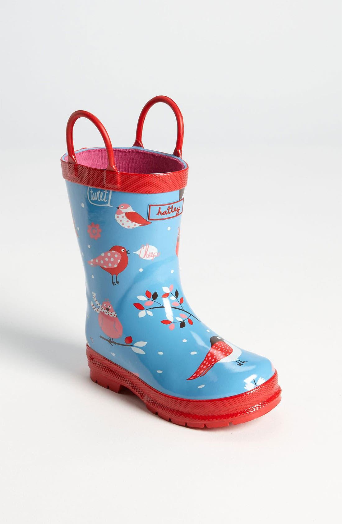 Alternate Image 1 Selected - Hatley 'Winter Birds' Rain Boot (Walker, Toddler & Little Kid)