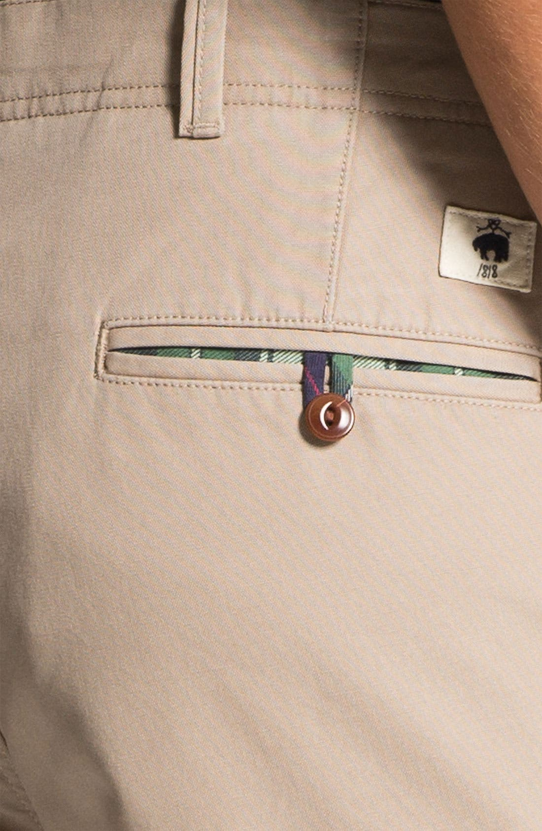 Alternate Image 3  - Brooks Brothers Flannel Lined Flat Front Chinos