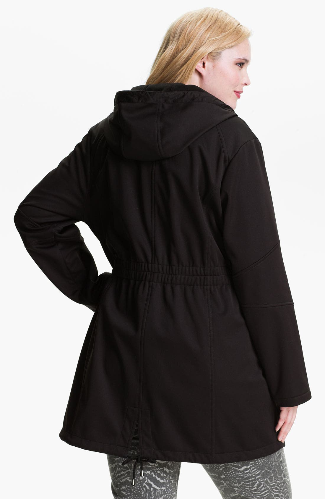 Alternate Image 2  - Laundry by Shelli Segal Softshell Anorak (Plus) (Nordstrom Exclusive)