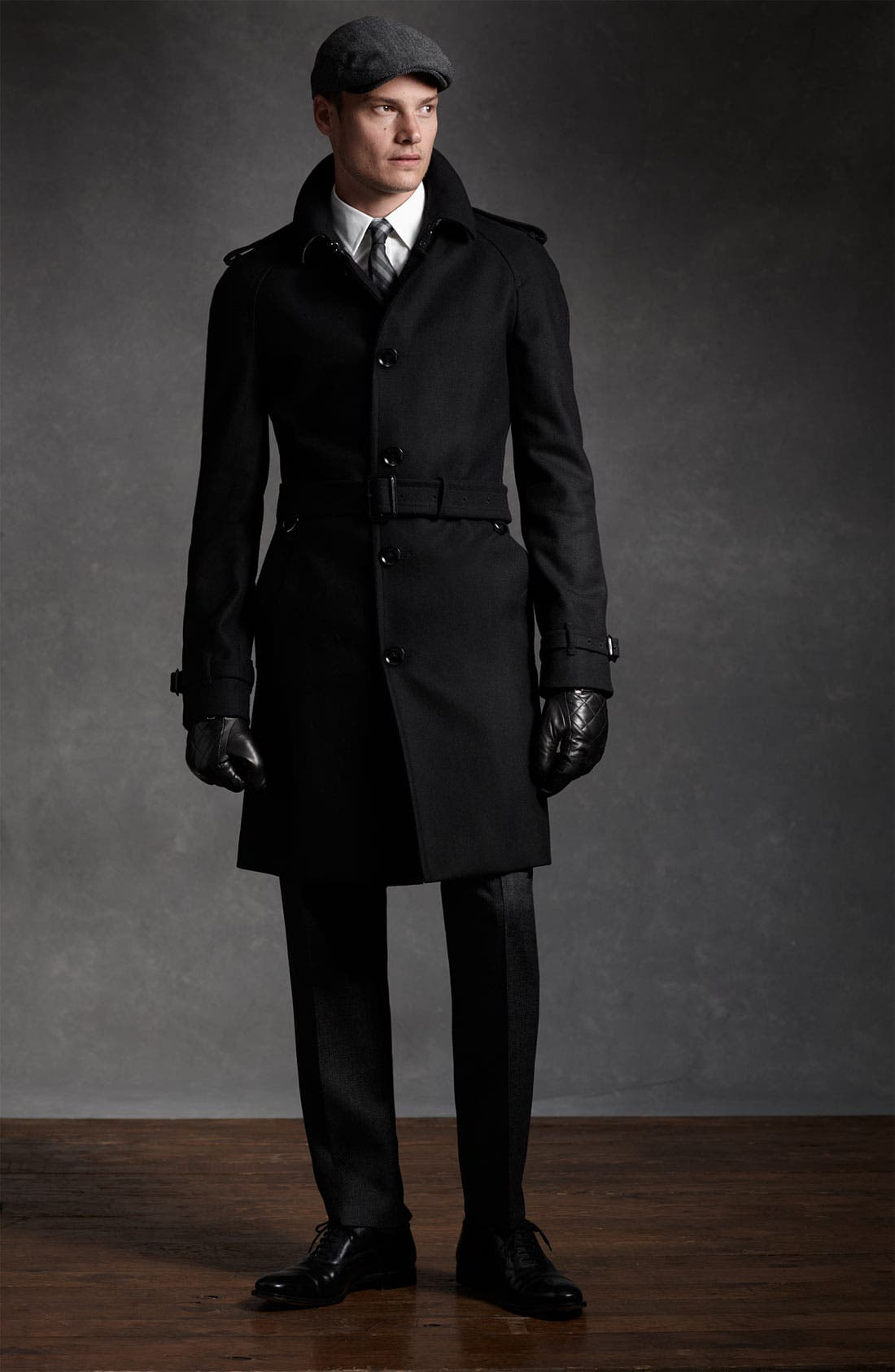 Alternate Image 4  - Burberry London Trim Fit Wool Blend Trench Coat