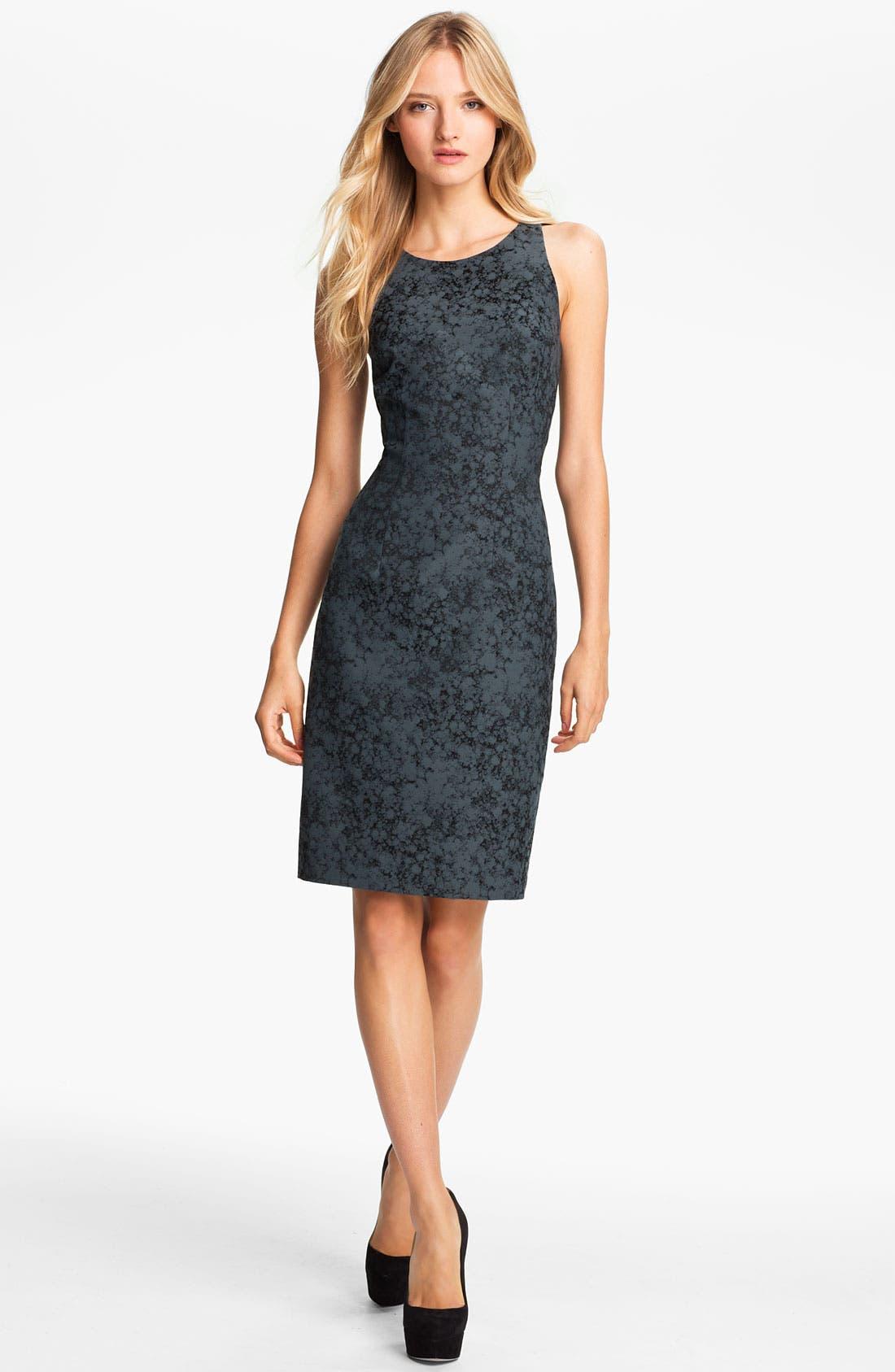 Main Image - Jay Godfrey 'Naomi' Abstract Print Dress (Nordstrom Exclusive)