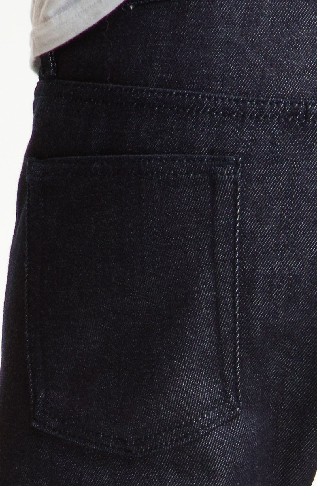 Alternate Image 4  - Naked & Famous Denim 'Weird Guy' Slim Straight Leg Selvedge Jeans (Indigo)