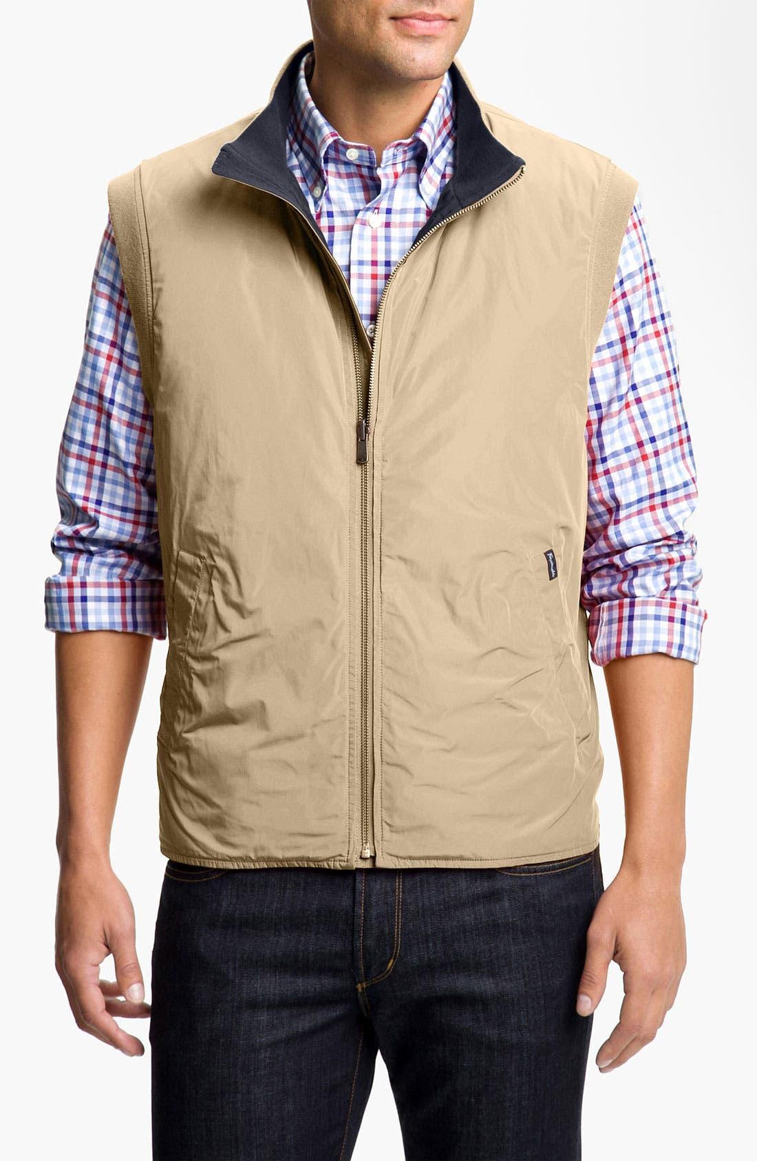 Main Image - Façonnable Classique Fit Reversible Zip Vest