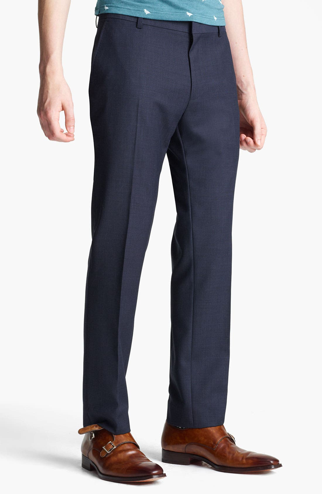 Alternate Image 1 Selected - Topman Pin Dot Skinny Fit Trousers