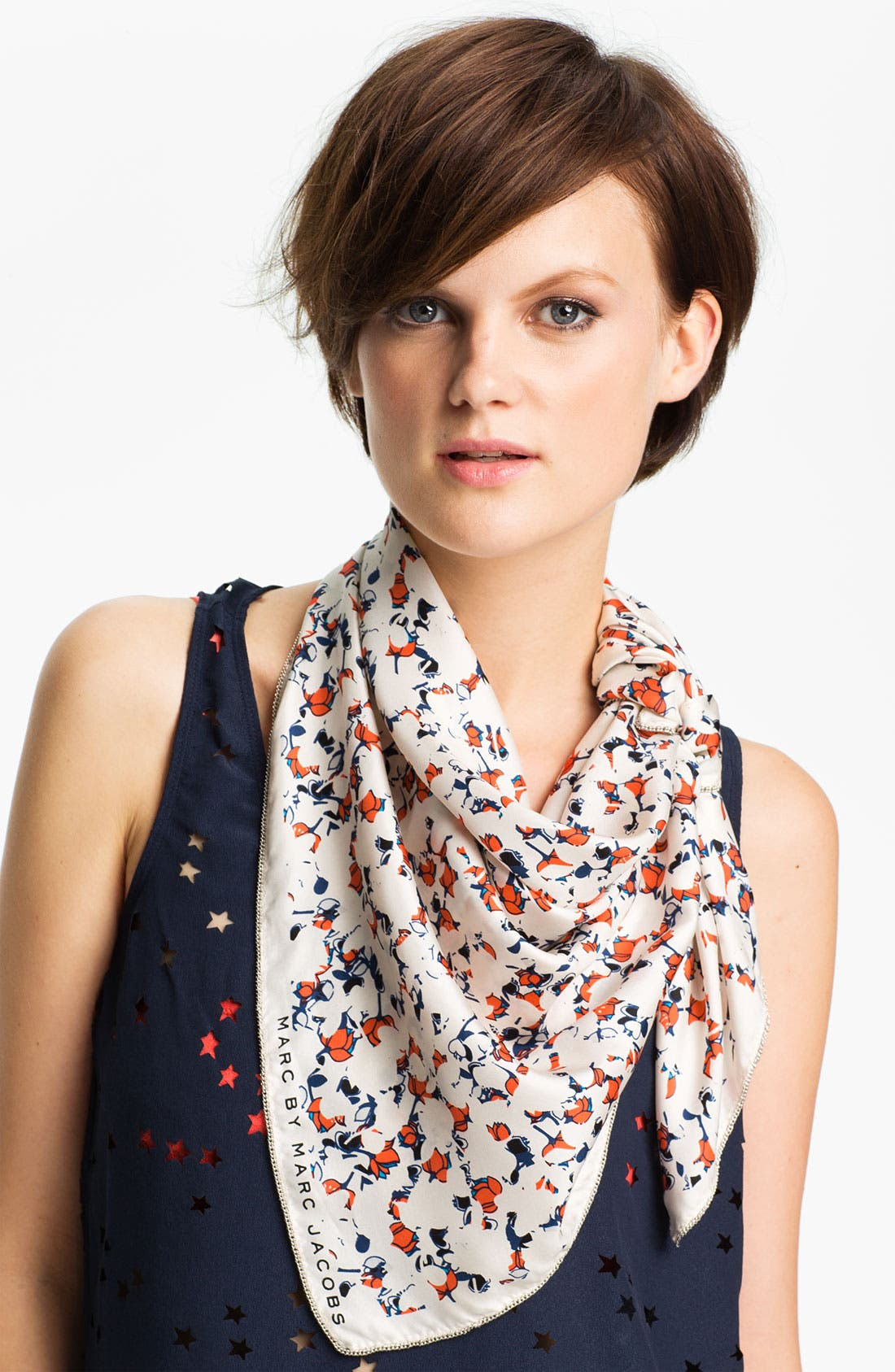Main Image - MARC BY MARC JACOBS 'Exeter Print' Silk Scarf