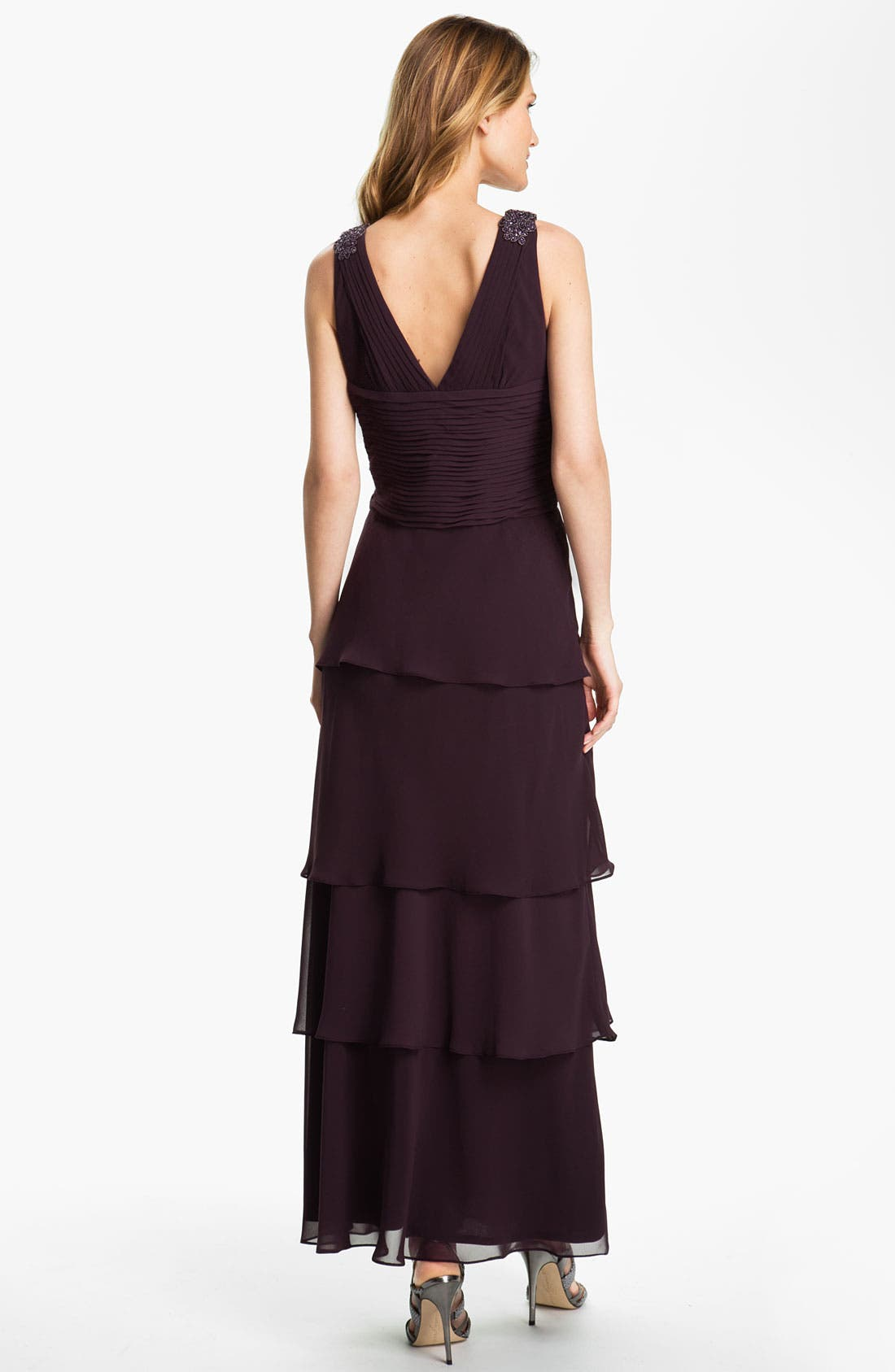 Alternate Image 2  - Alex Evenings Tiered Chiffon Gown