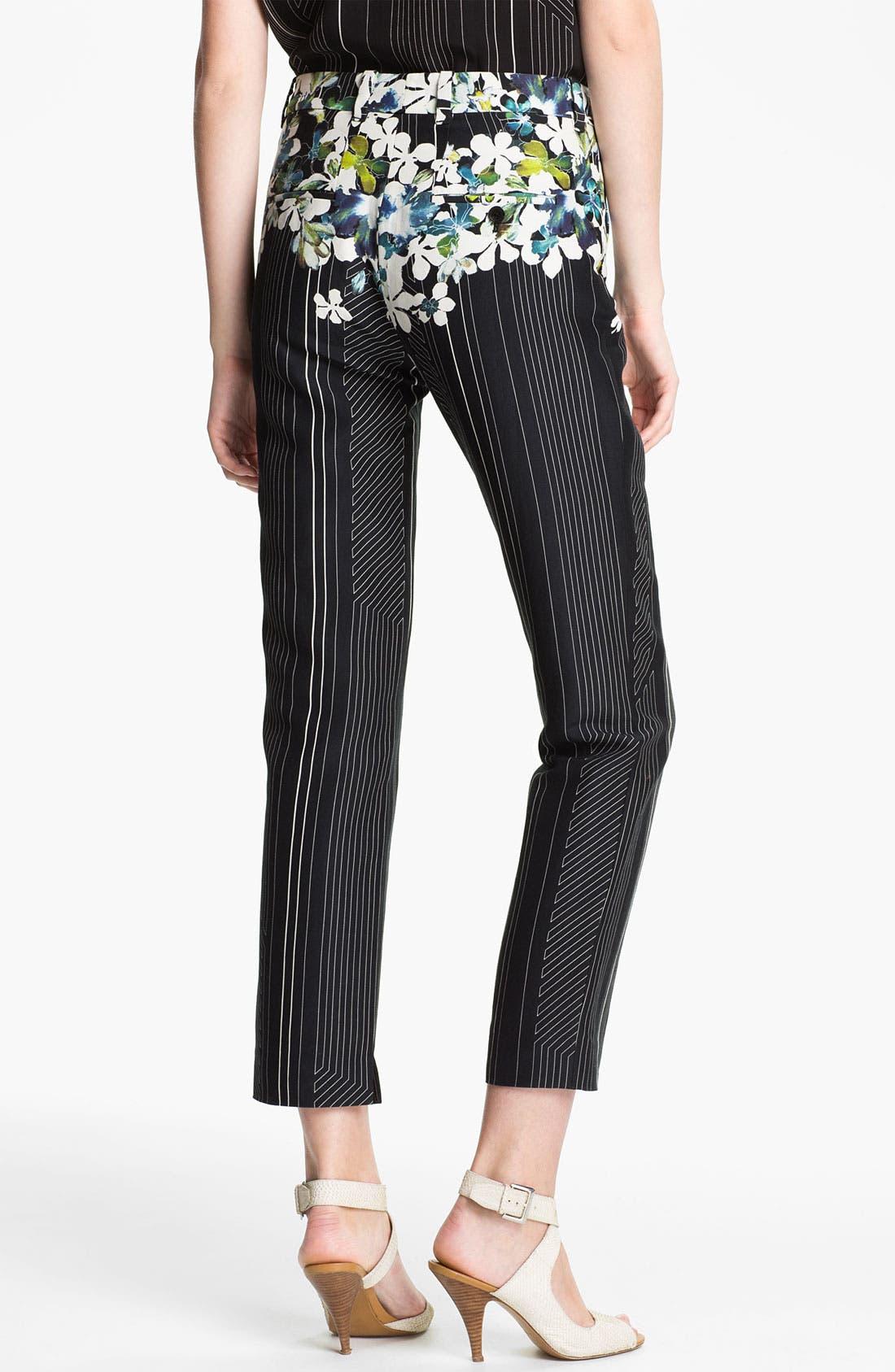 Alternate Image 2  - 3.1 Phillip Lim Floral Print Flat Front Trousers