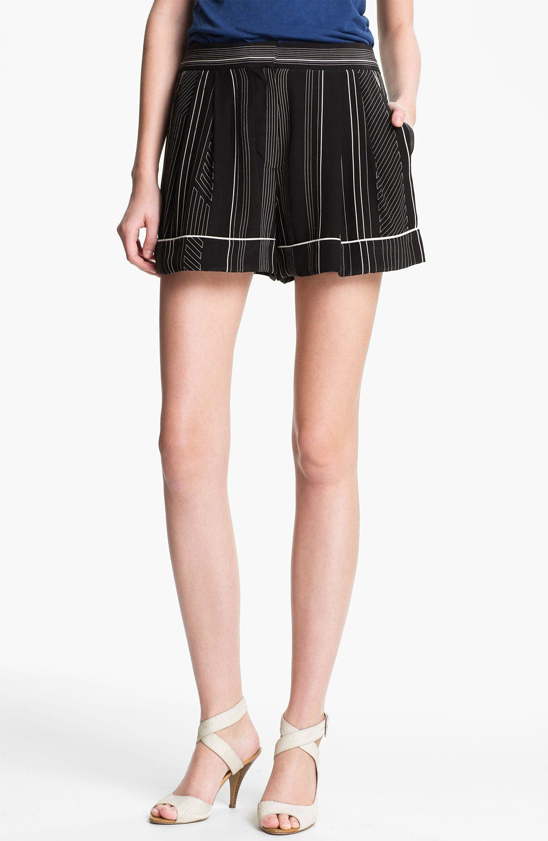 Alternate Image 1 Selected - 3.1 Phillip Lim Stripe Silk Shorts