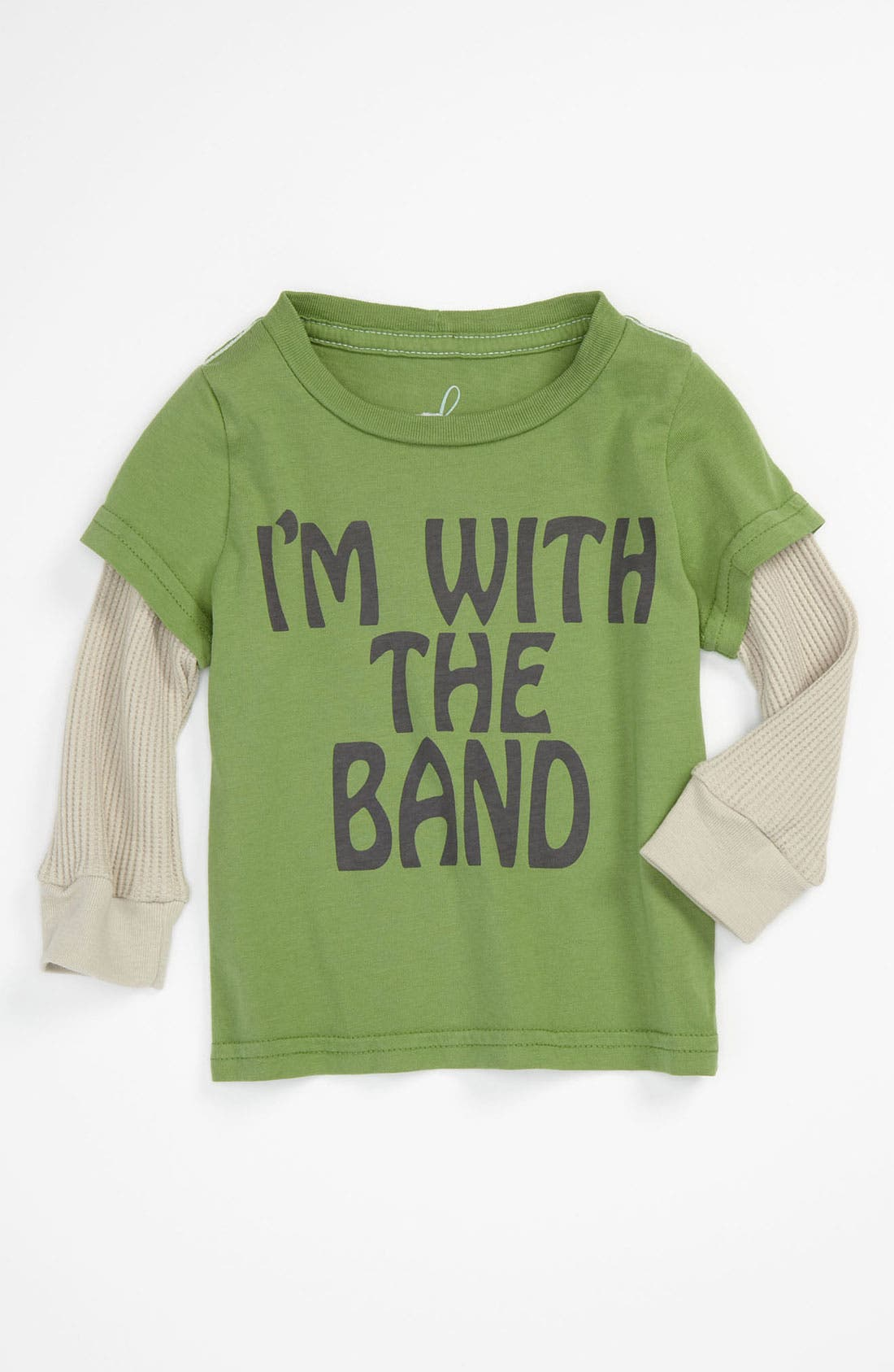 Alternate Image 1 Selected - Peek 'I'm With The Band' Tee (Infant)