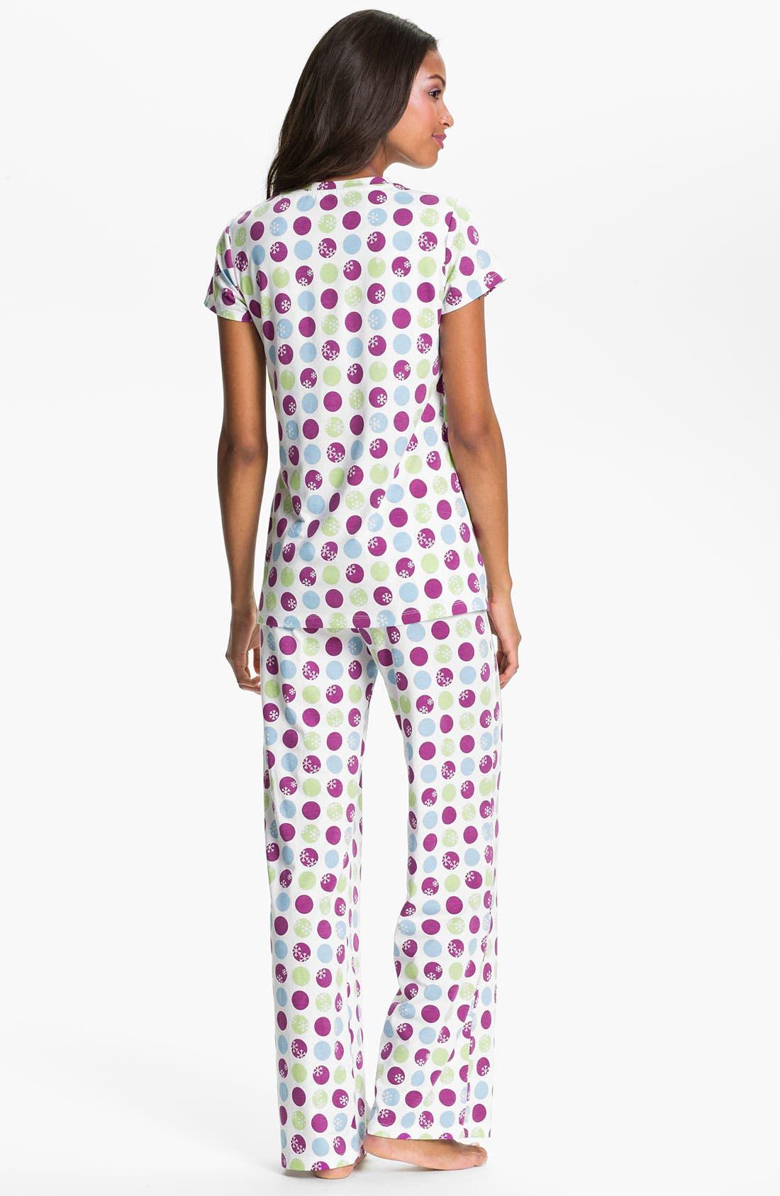 Alternate Image 2  - Nordstrom Pleat Pajamas
