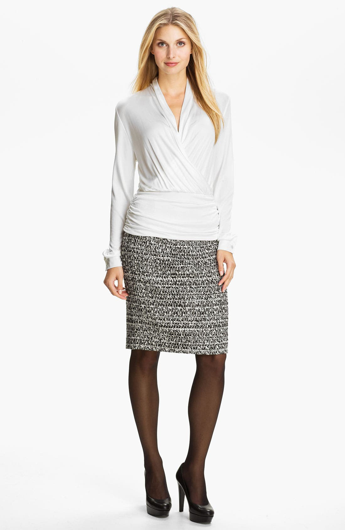 Alternate Image 4  - Classiques Entier® 'Roma' Tweed Skirt