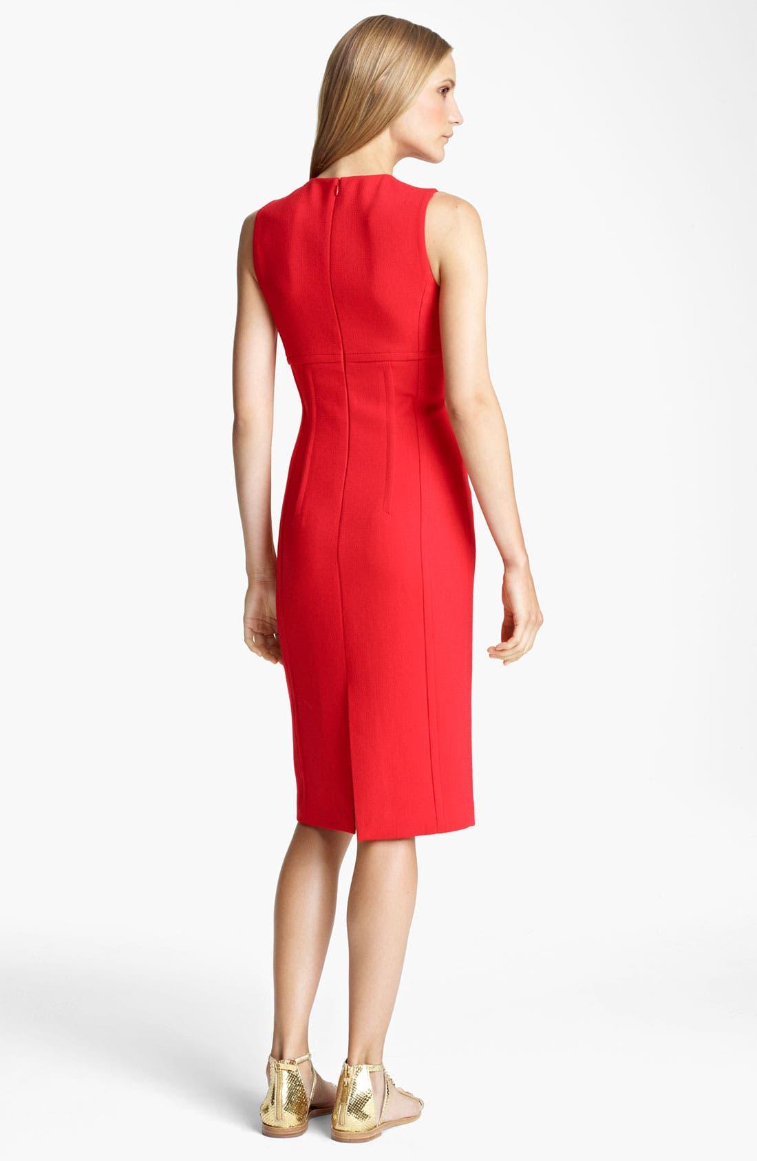 Alternate Image 2  - Michael Kors Seamed Bouclé Sheath Dress