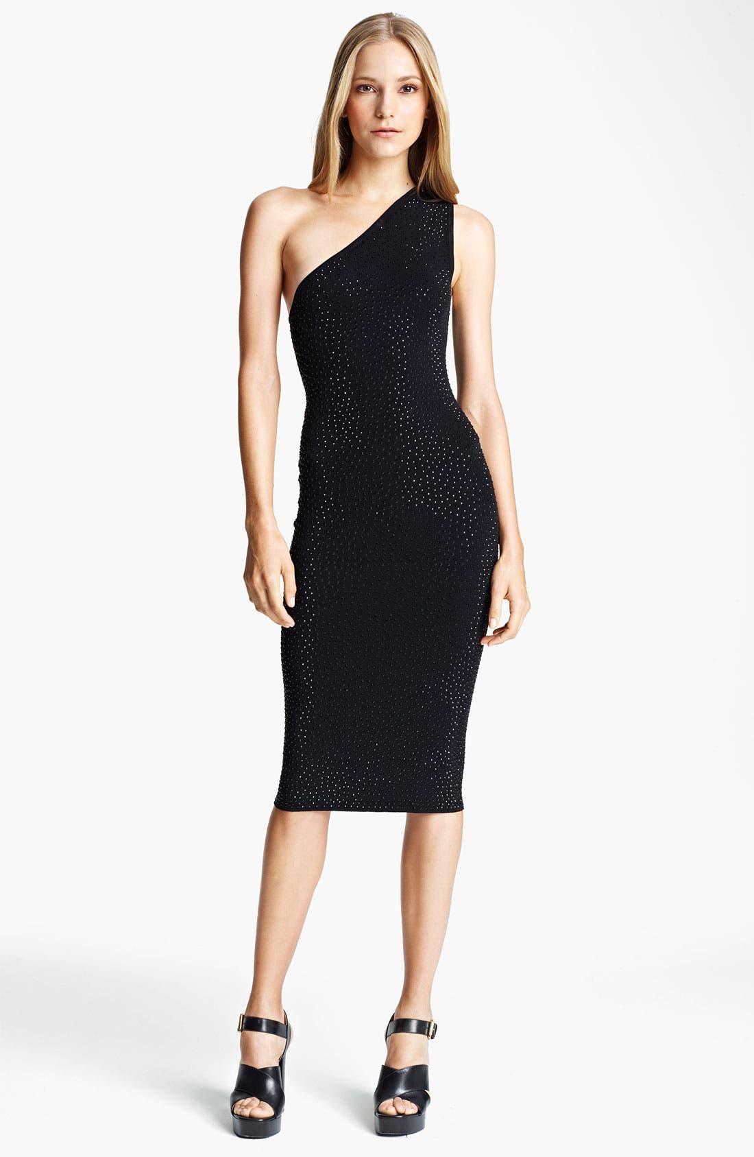 Main Image - Michael Kors Embellished One Shoulder Dress