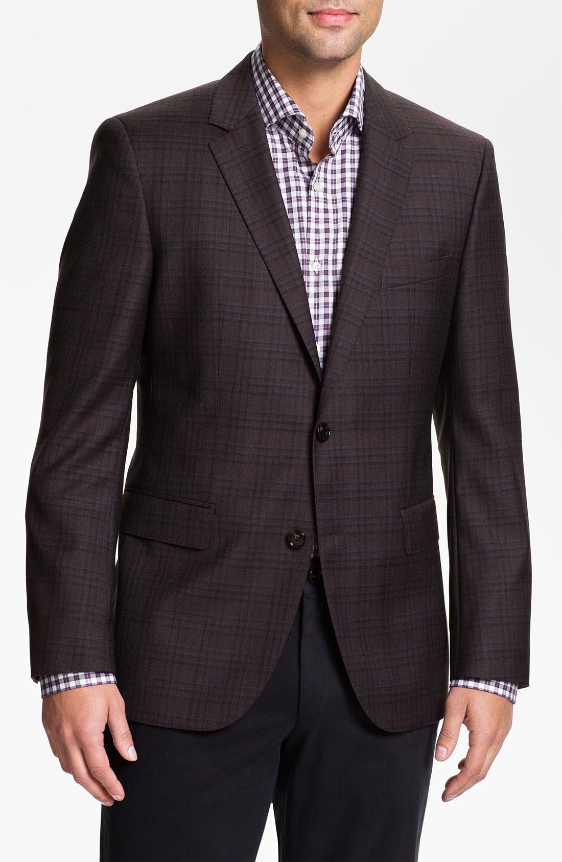 Main Image - BOSS Black 'James' Trim Fit Plaid Sportcoat