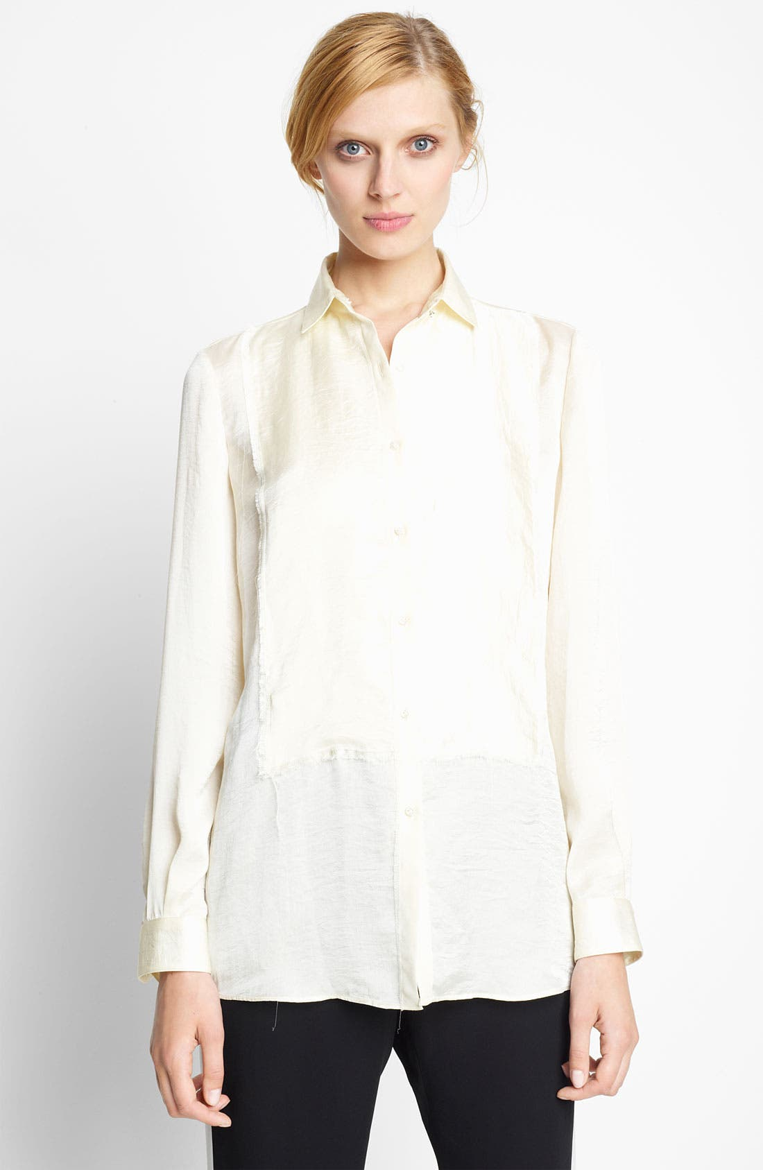 Alternate Image 1 Selected - Lanvin Satin Placket Blouse