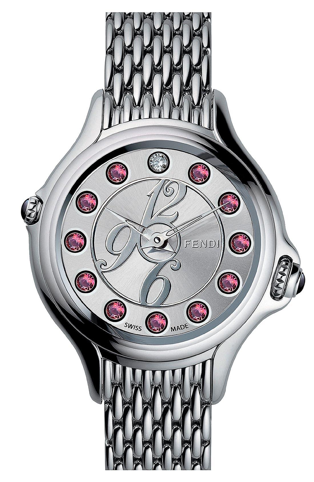 Alternate Image 2  - Fendi 'Crazy Carats' Bracelet Watch, 38mm
