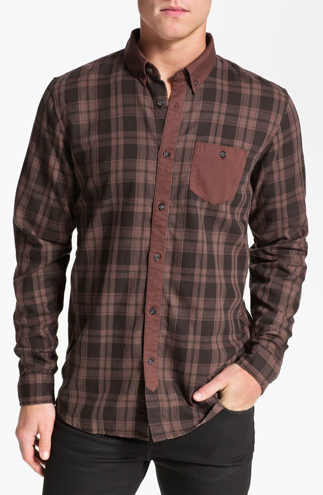 Main Image - 55DSL 'Stenperl' Plaid Woven Shirt