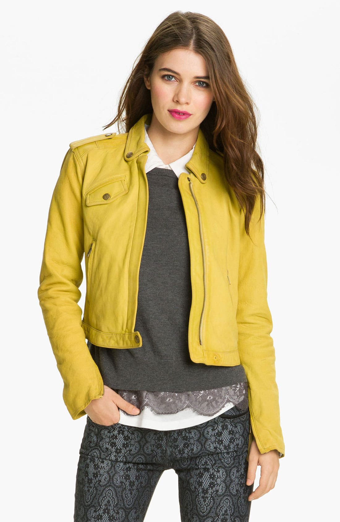 Main Image - Current/Elliott Leather Moto Jacket