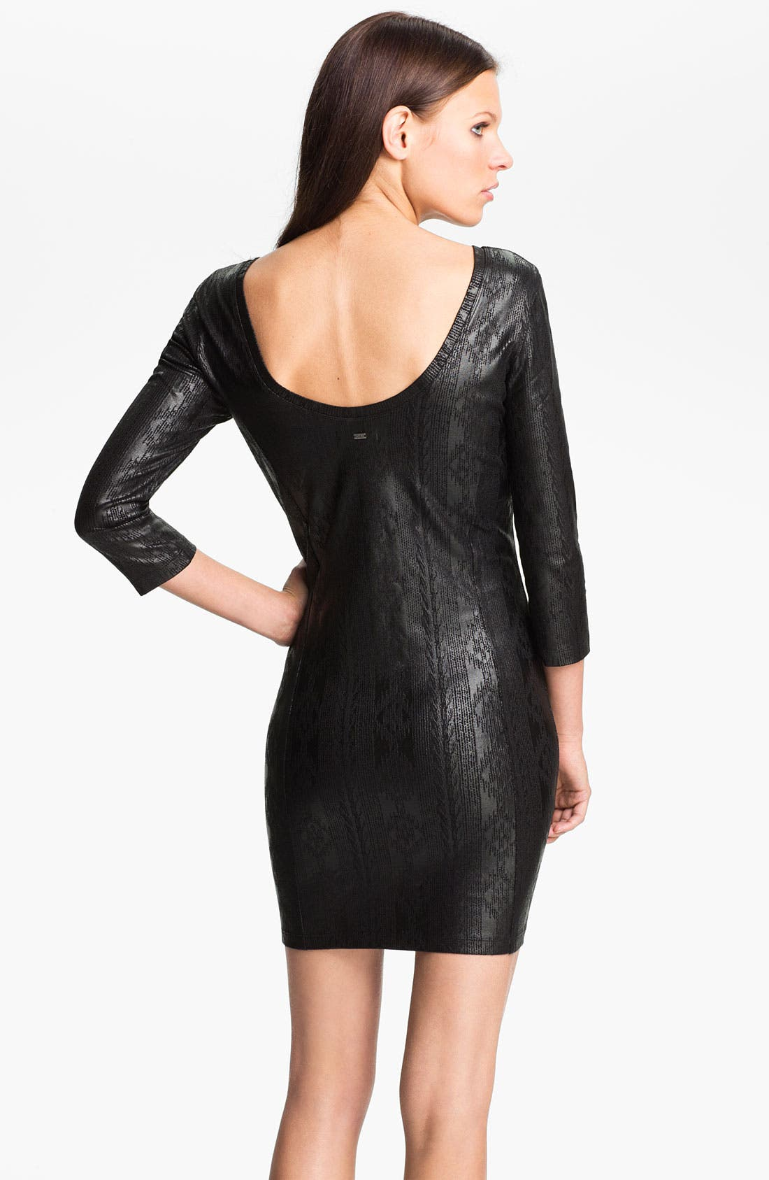 Alternate Image 2  - Obey 'Desert Rain' Coated Print Dress