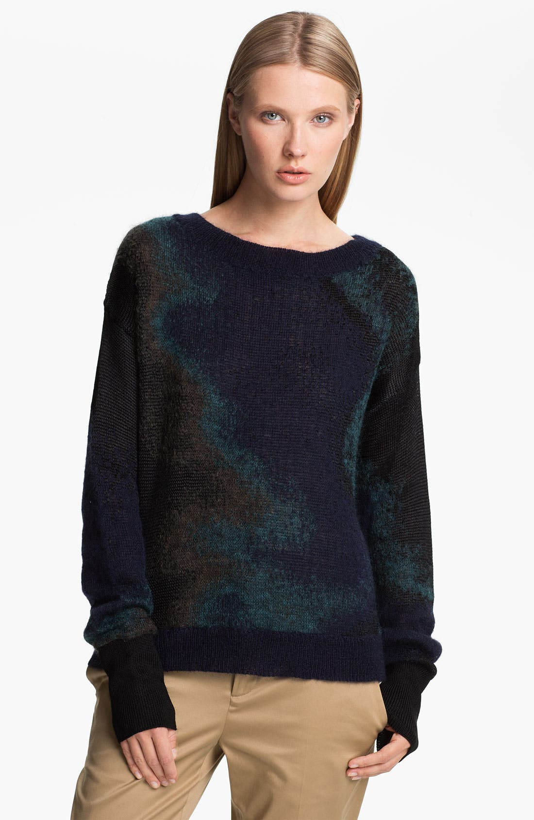 Main Image - Theyskens' Theory 'Kroll Yaris' Ombré Pullover