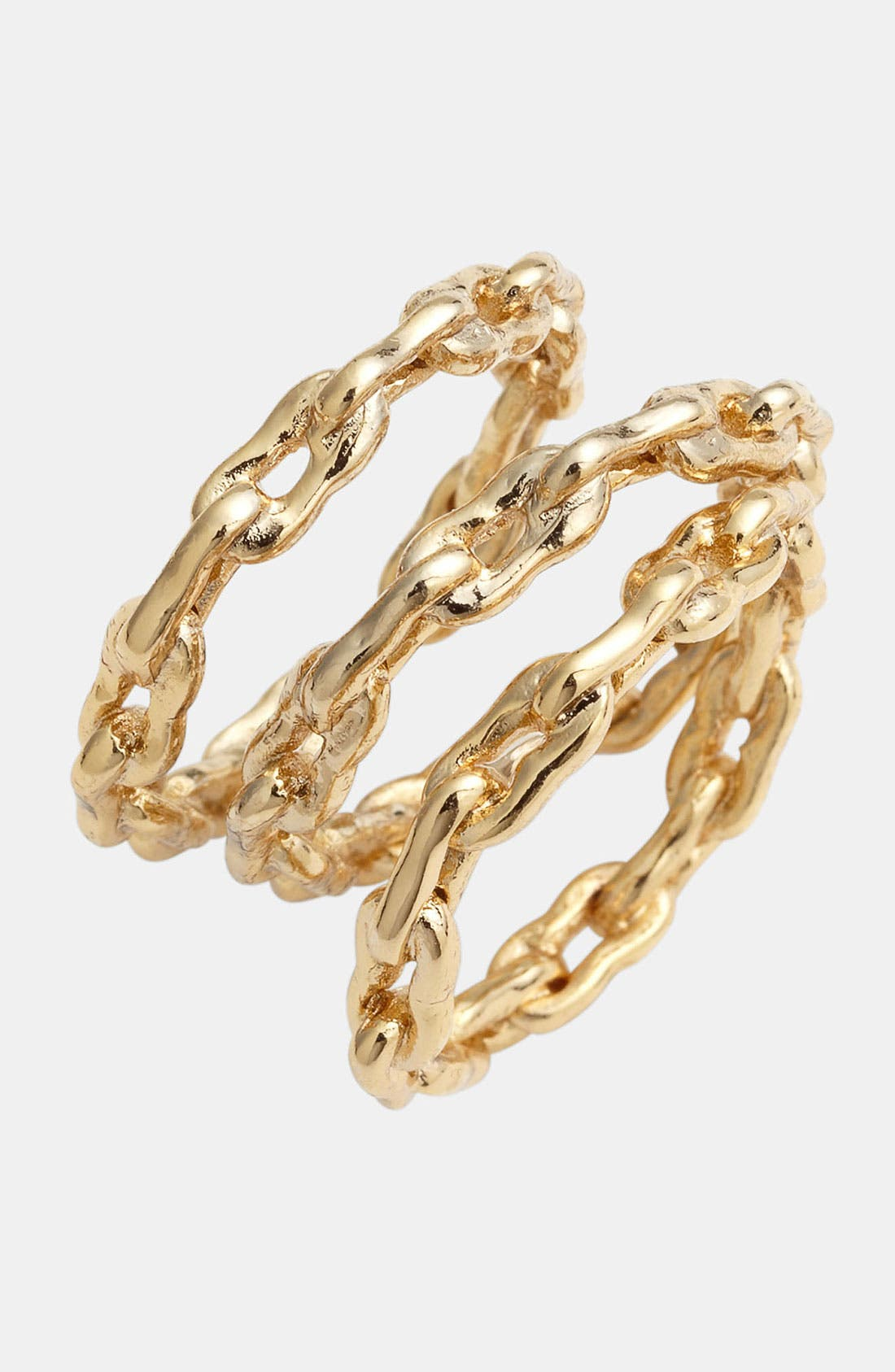 Main Image - Kelly Wearstler Bent Link Rings (Set of 3)