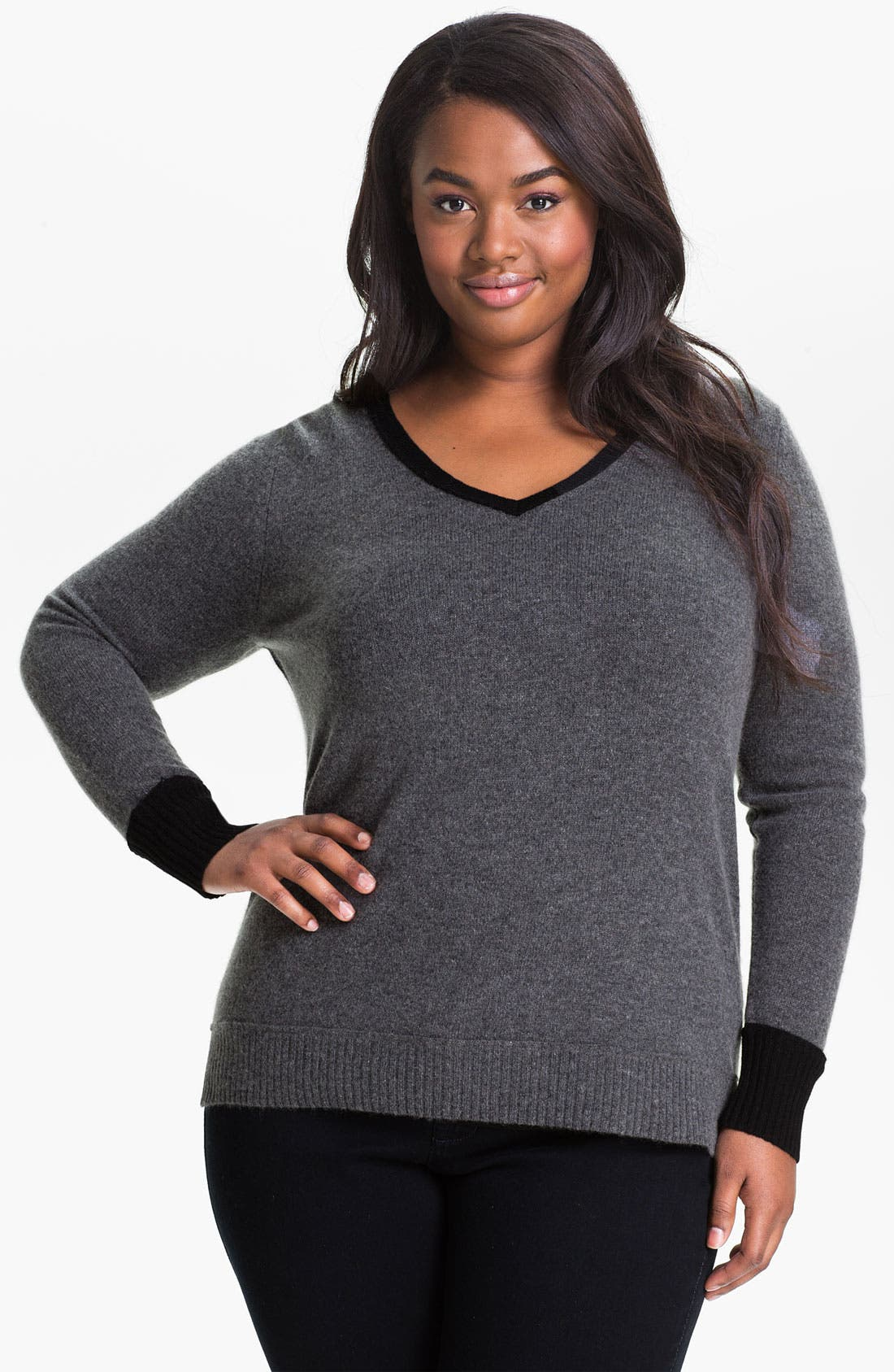 Alternate Image 1 Selected - Only Mine Colorblock Wool & Cashmere Sweater