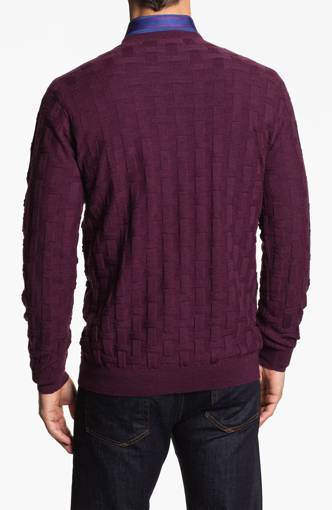 Alternate Image 2  - Bugatchi Uomo Crewneck Merino Wool Sweater