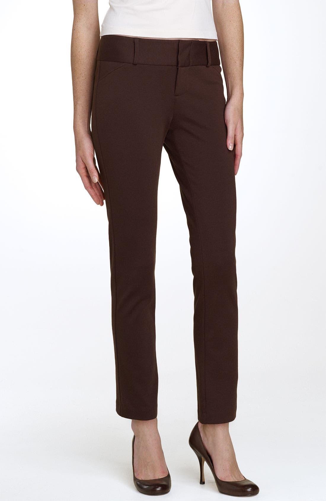 Alternate Image 1 Selected - MICHAEL Michael Kors Ponte Ankle Pants (Petite)