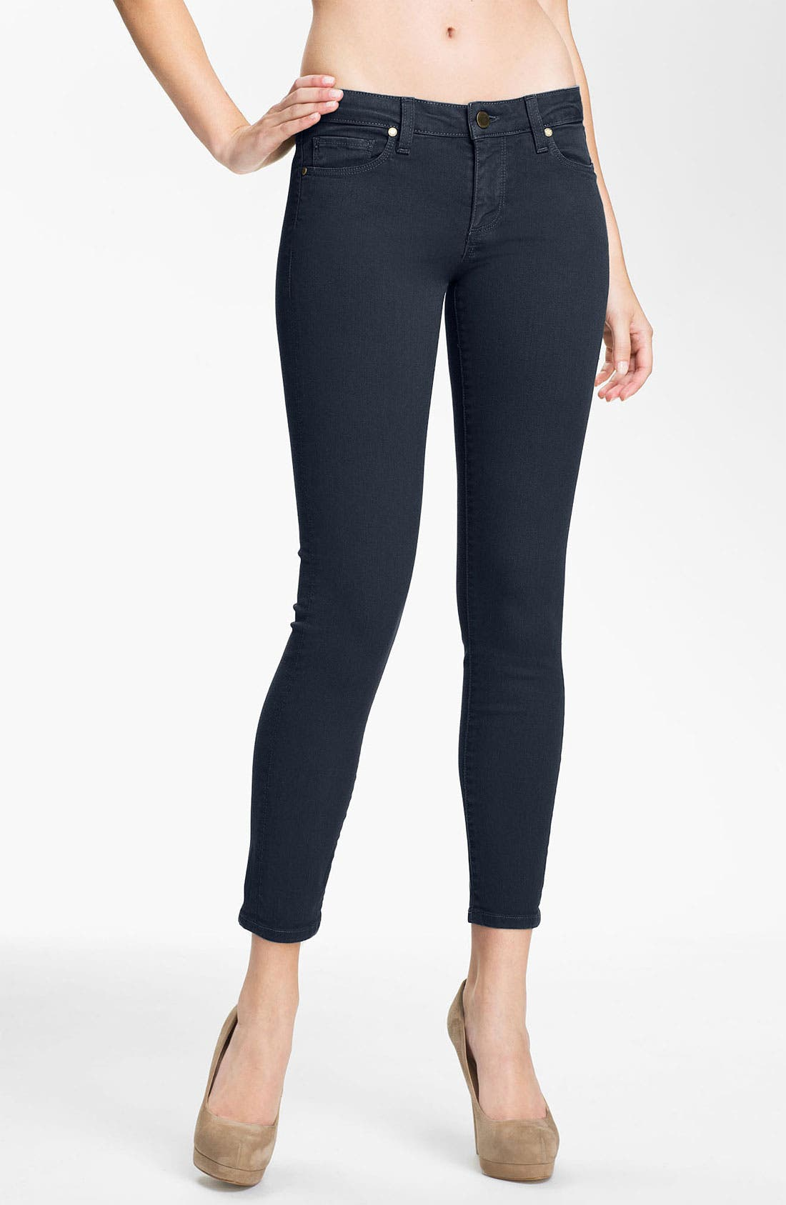 Alternate Image 1 Selected - Paige Denim 'Skyline' Ankle Peg Skinny Stretch Jeans (Drift)