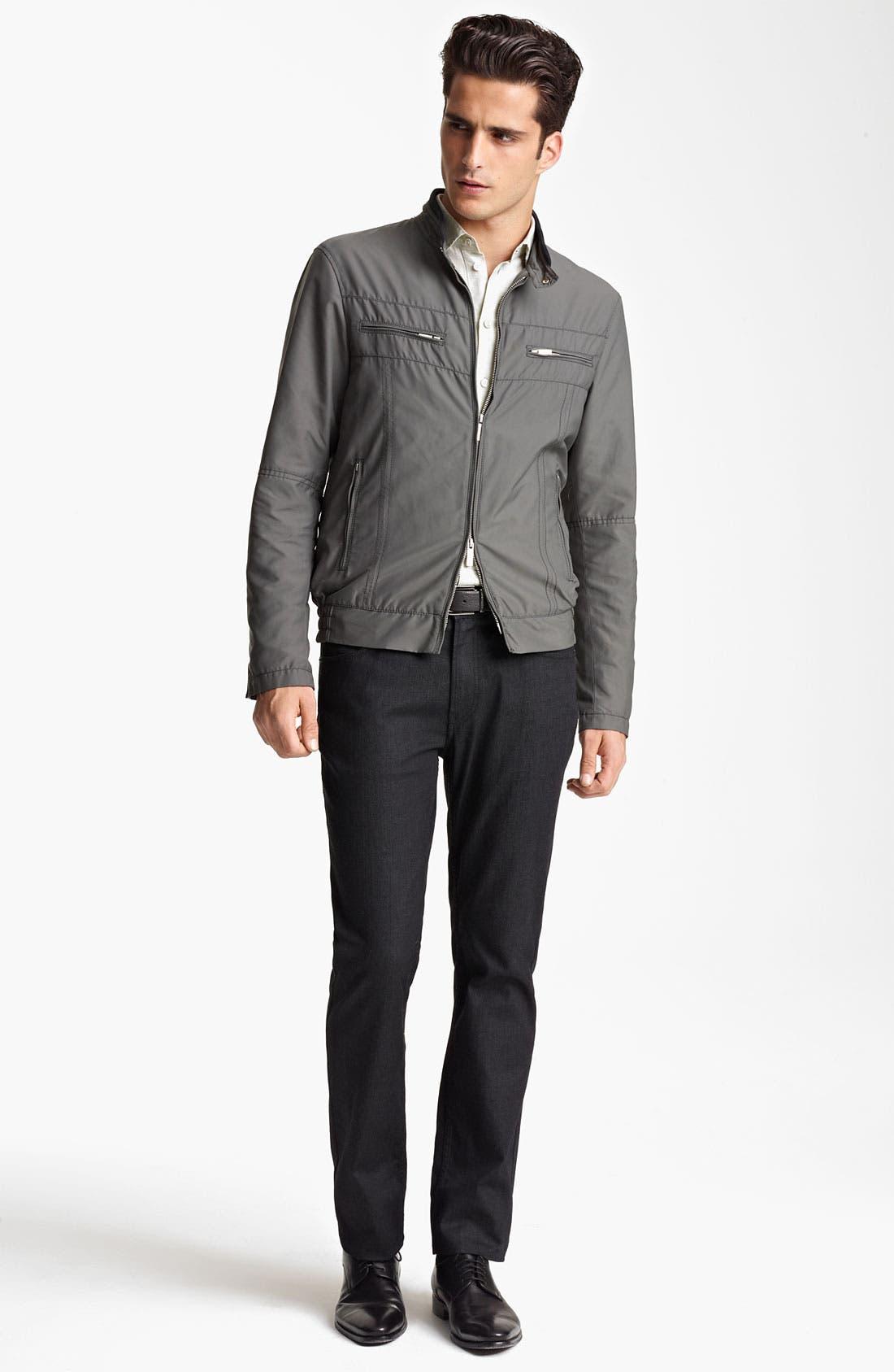 Alternate Image 4  - Armani Collezioni Nylon Moto Jacket