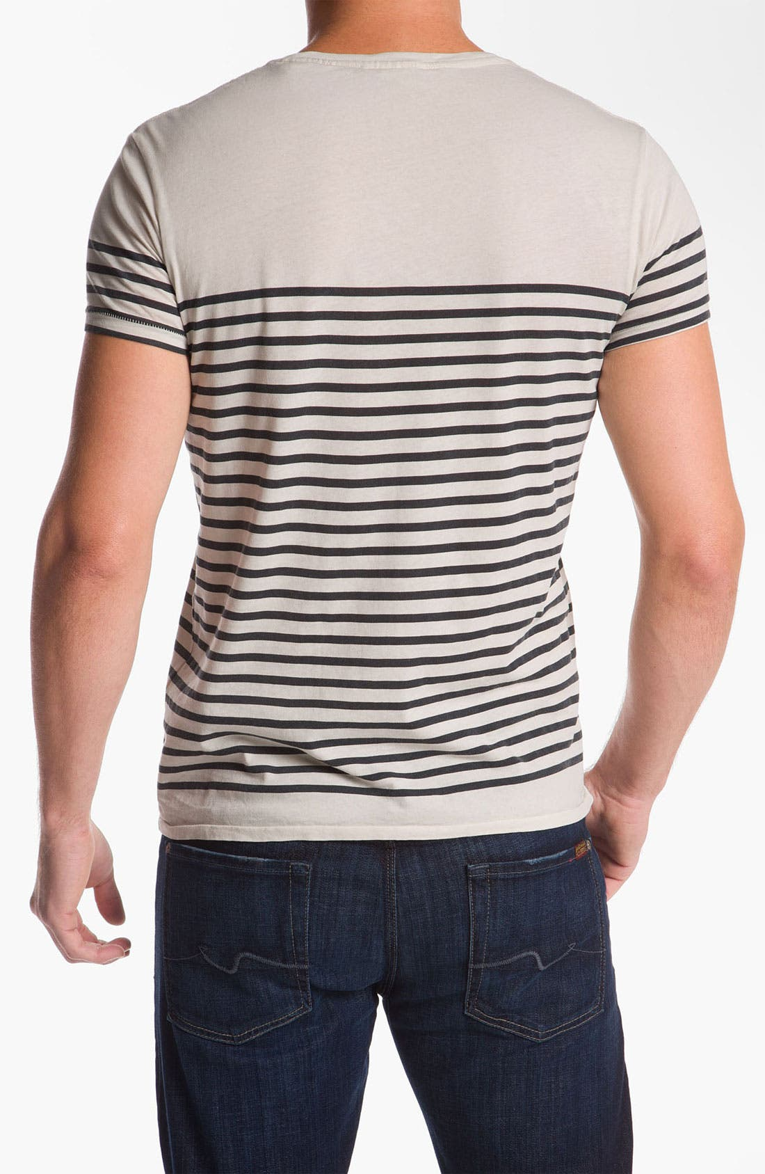 Alternate Image 2  - Scotch & Soda Oil Washed V-Neck T-Shirt