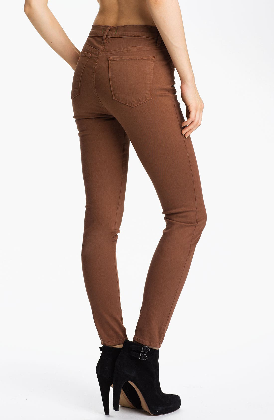 Alternate Image 2  - J Brand 'Maria' High Rise Skinny Stretch Jeans (Bourbon)