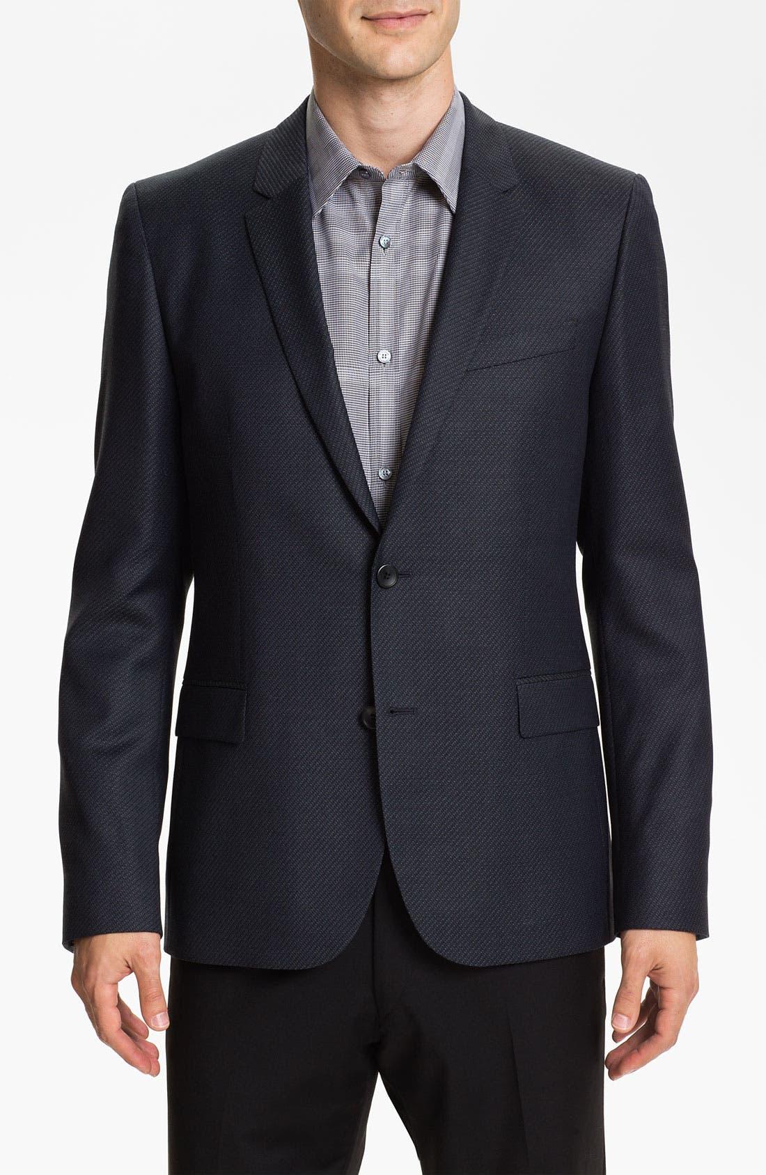 Alternate Image 1 Selected - HUGO 'Amares' Trim Fit Wool Blazer