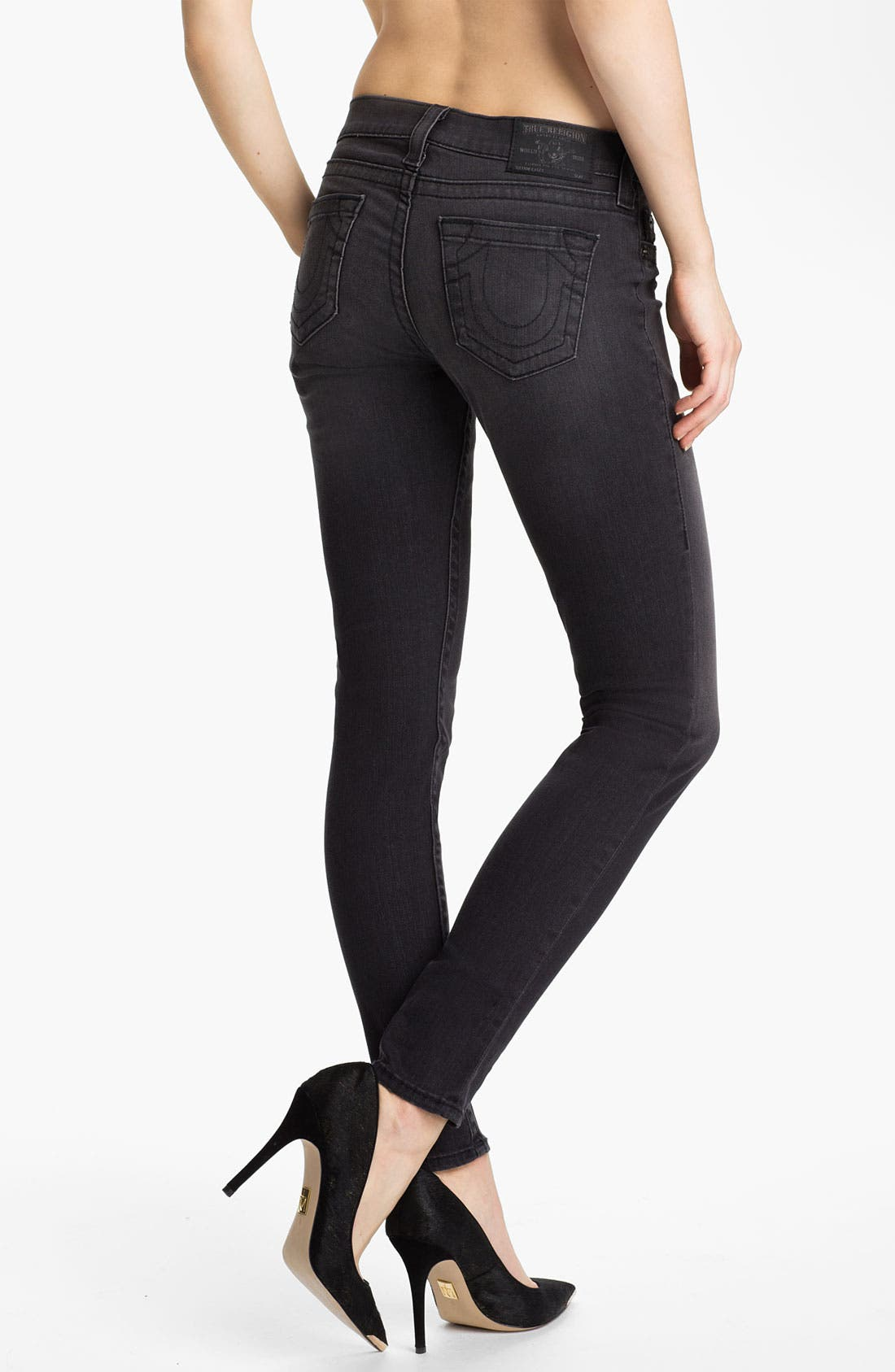 Alternate Image 2  - True Religion Brand Jeans 'Casey' Skinny Stretch Jeans (Hot Lead)